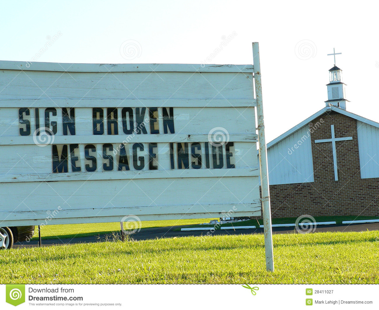 Download Church sign stock image. Image of information, advertisement - 28411027