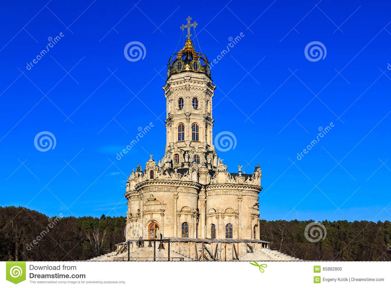 Church Signs Of The Blessed Virgin In Dubrovitsy Stock Photo - Image
