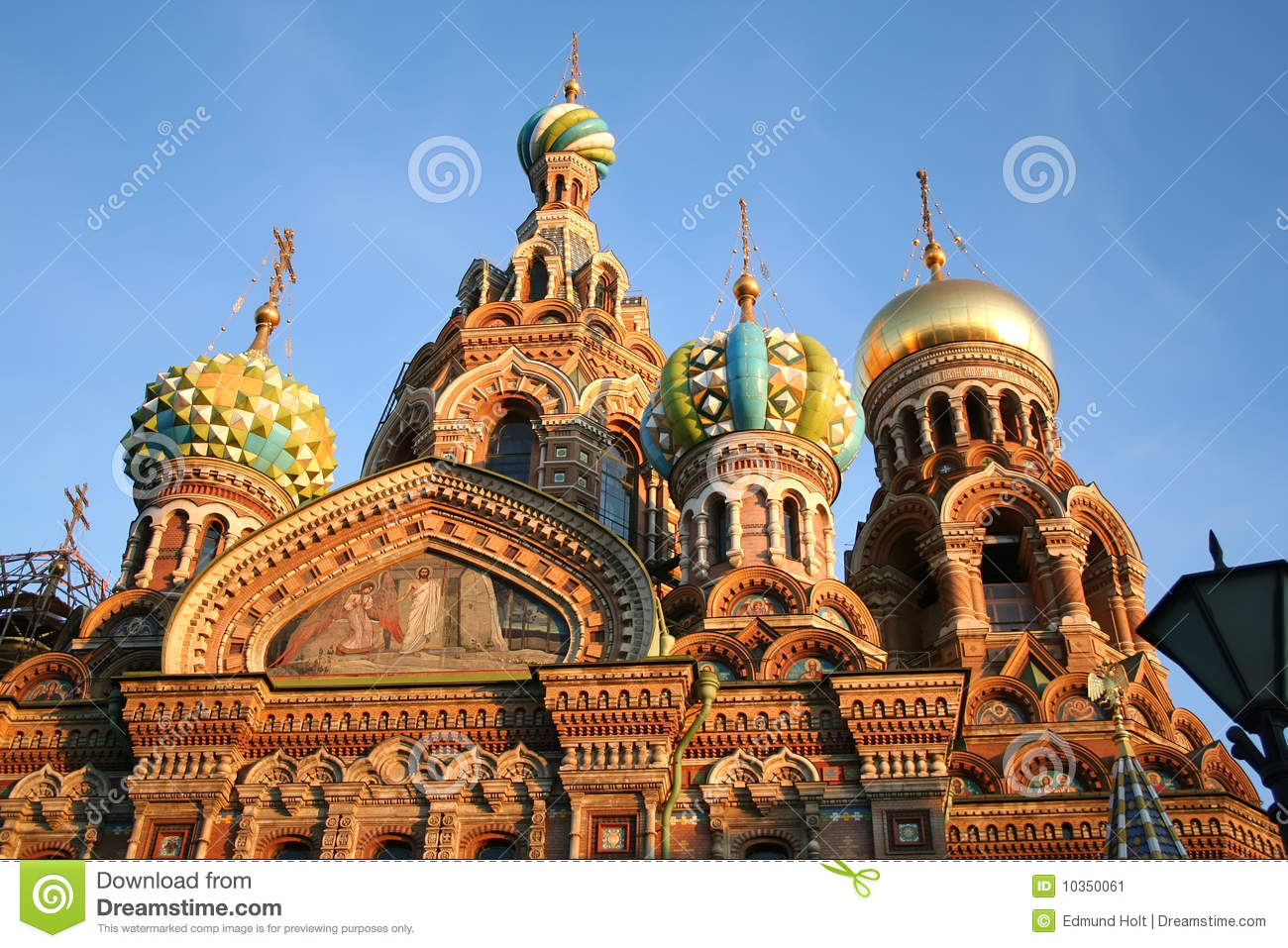 Church On Spilled Blood St Petersburg Stock Image