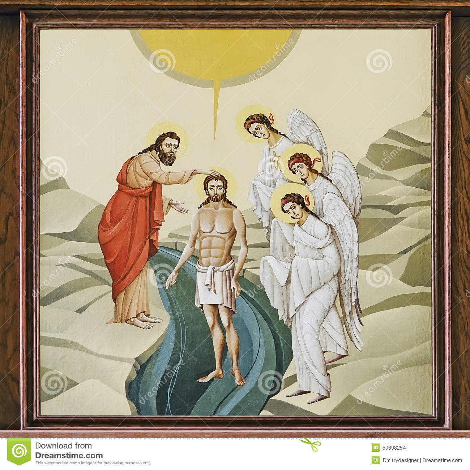 baptism of jesus illustration stock illustration image 65074485