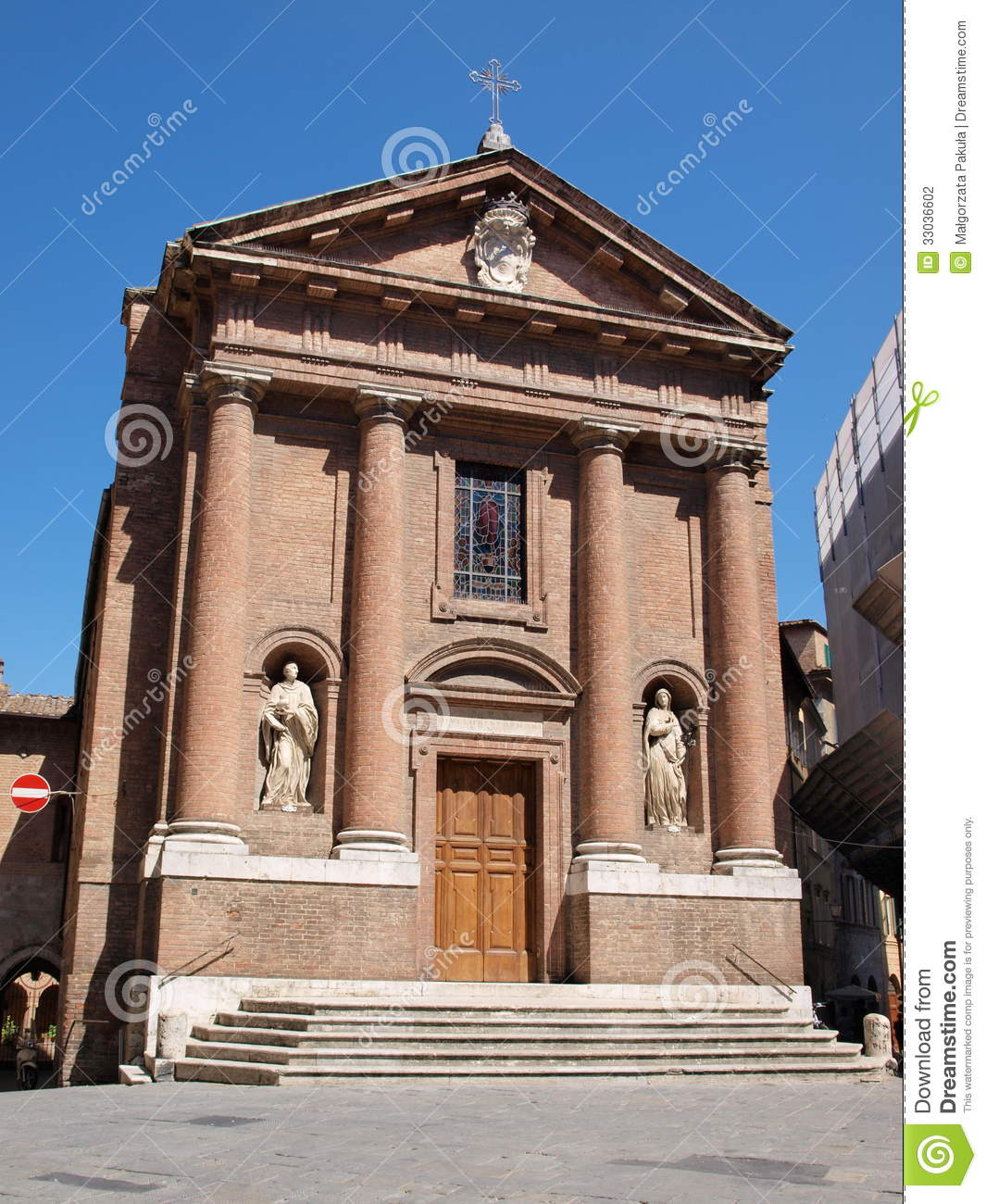 Church Of St Christopher, Siena, Italy Stock Photography - Image ...