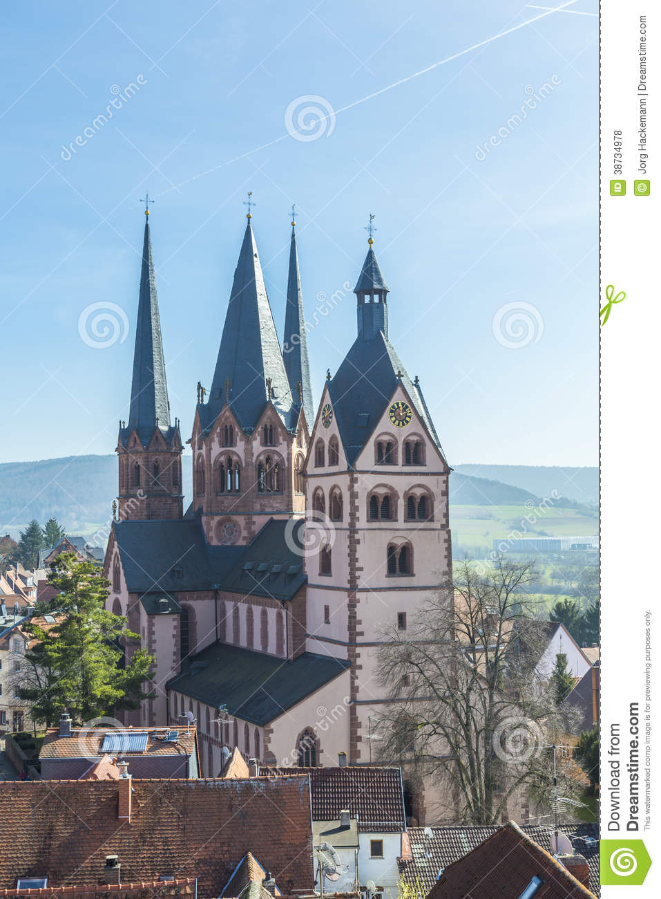 church on st mary in gelnhausen royalty free stock photos. Black Bedroom Furniture Sets. Home Design Ideas