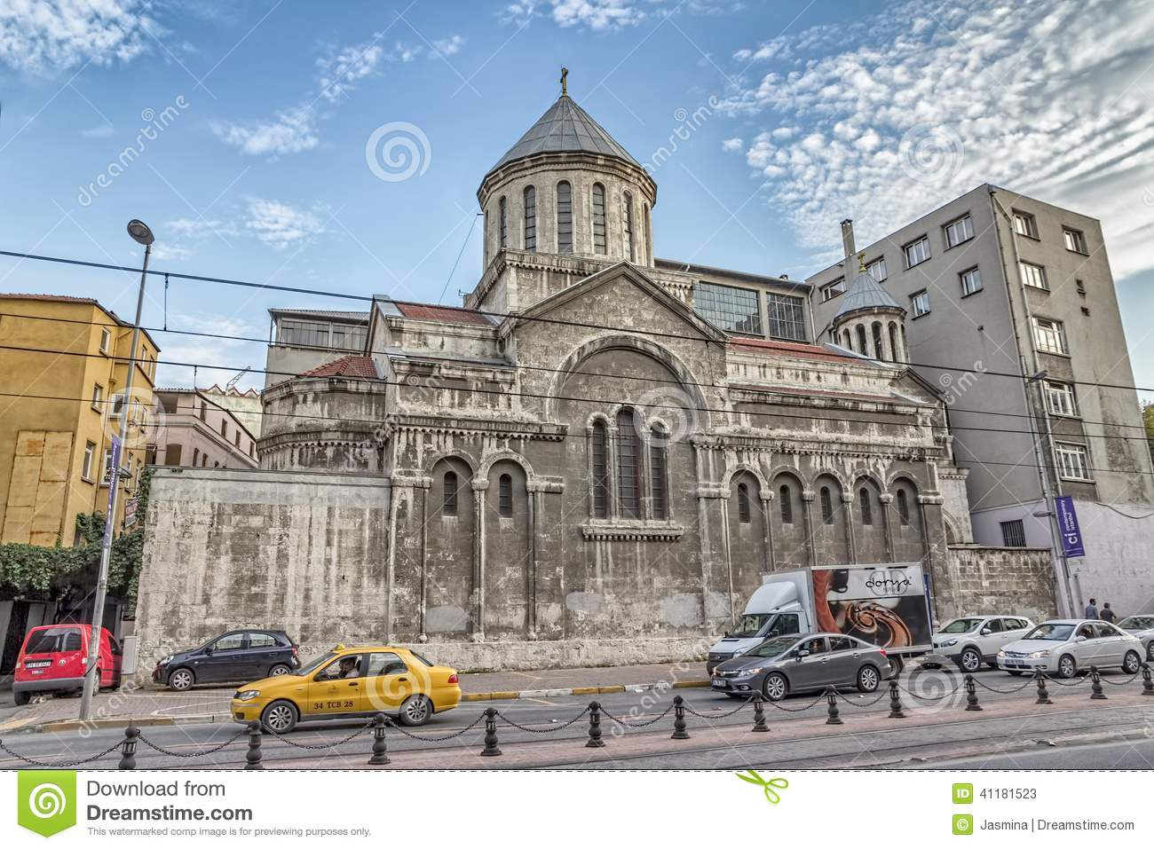 Church Of St. Peter And St. Paul In Istanbul Editorial ...