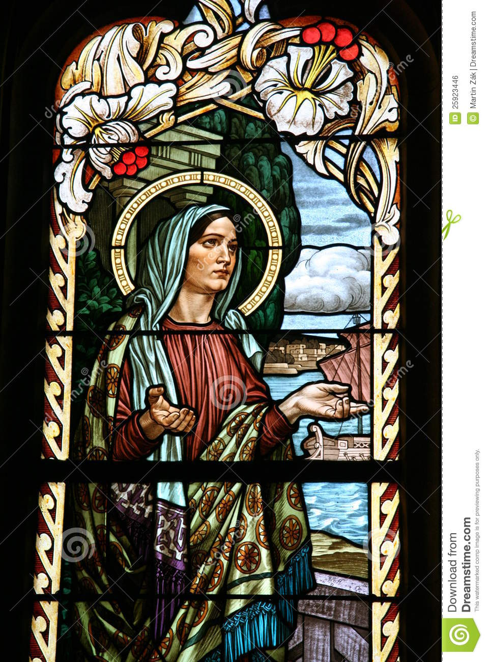 Church Stained Glass Art Jesus Person