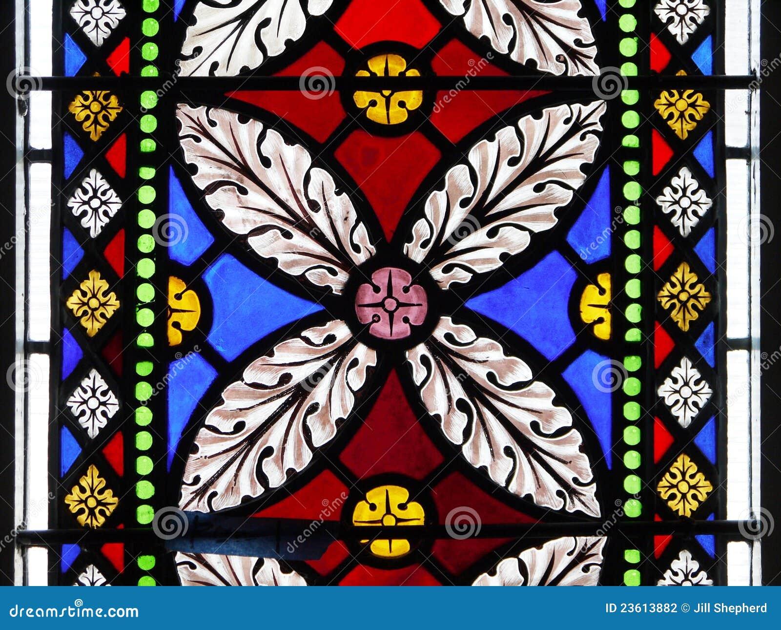 Glass window design - Design Flower Glass Leaf Petal Stained Window