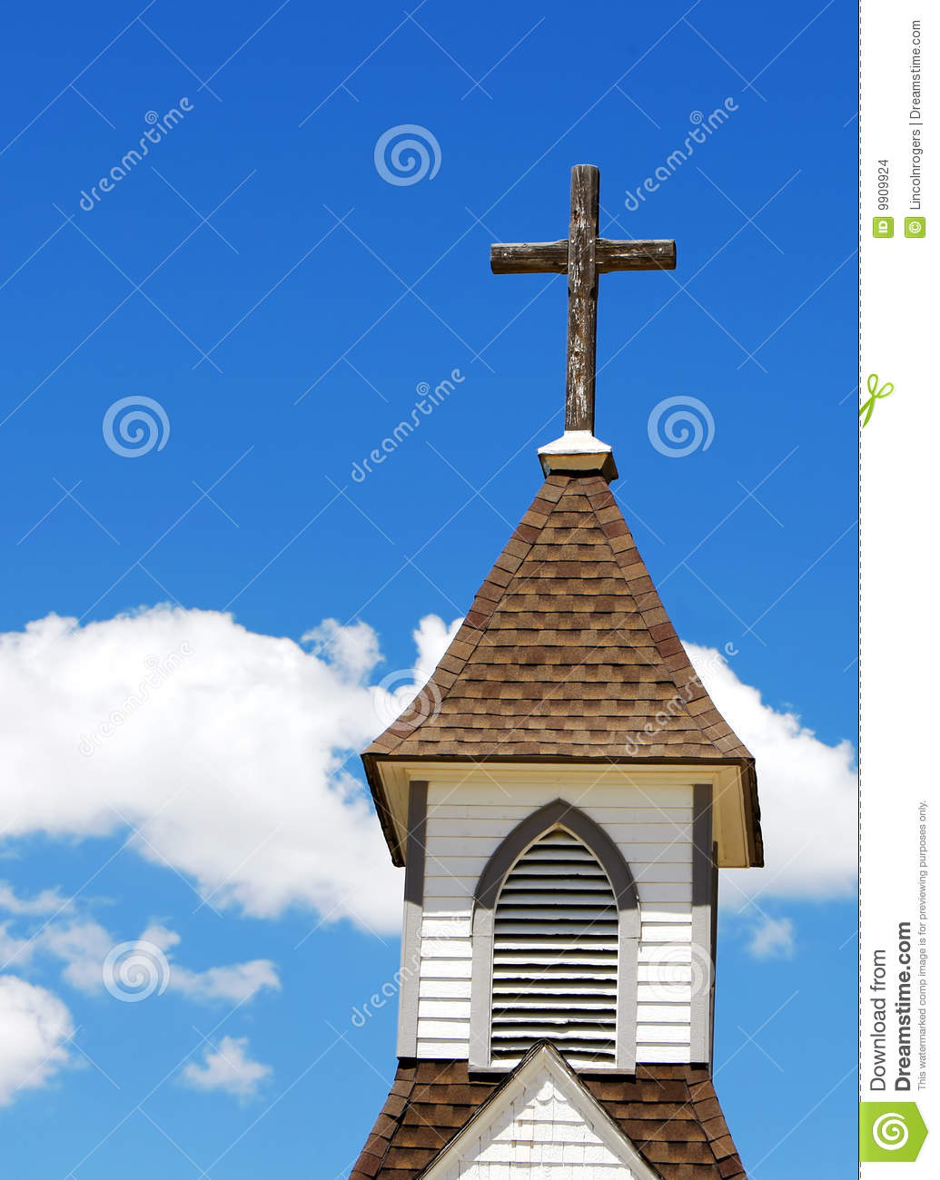 Church steeple and cross stock photo image of spire topped 9909924 church steeple and cross altavistaventures Images