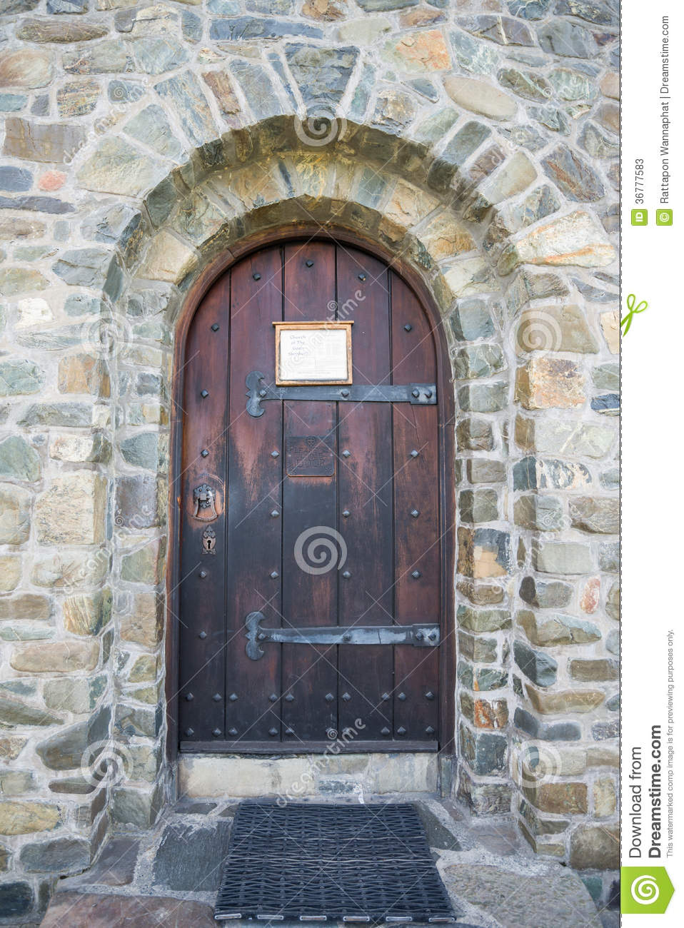 Church stone door stock image image of gate antique for Door of stone