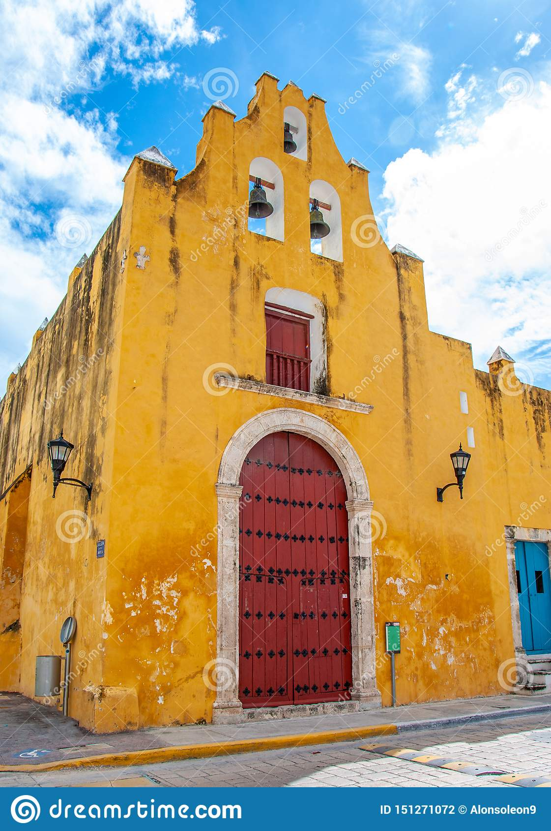Church of the sweet name of Jesus in the city of Campeche, Mexico