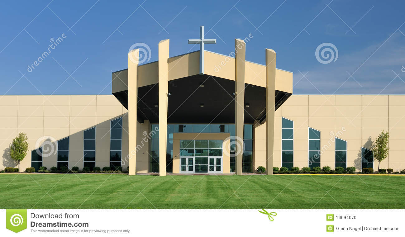 Elevation Church Bible Reading Plan : Church with symmetrical design stock photo image