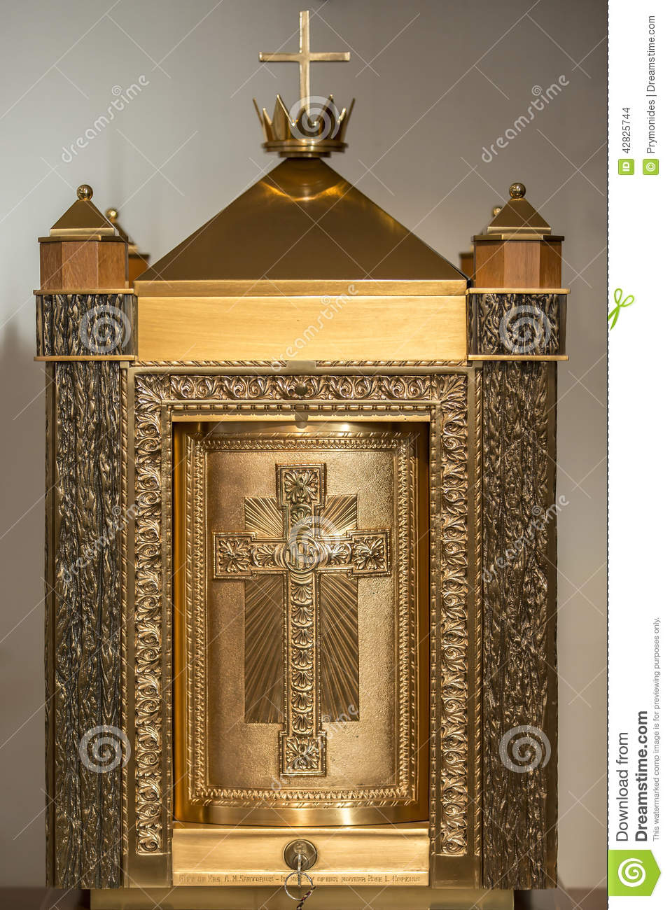 Stock Photo Church Tabernacle Catholic Gold Neutral Background Image42825744 on Good Church Business Cards
