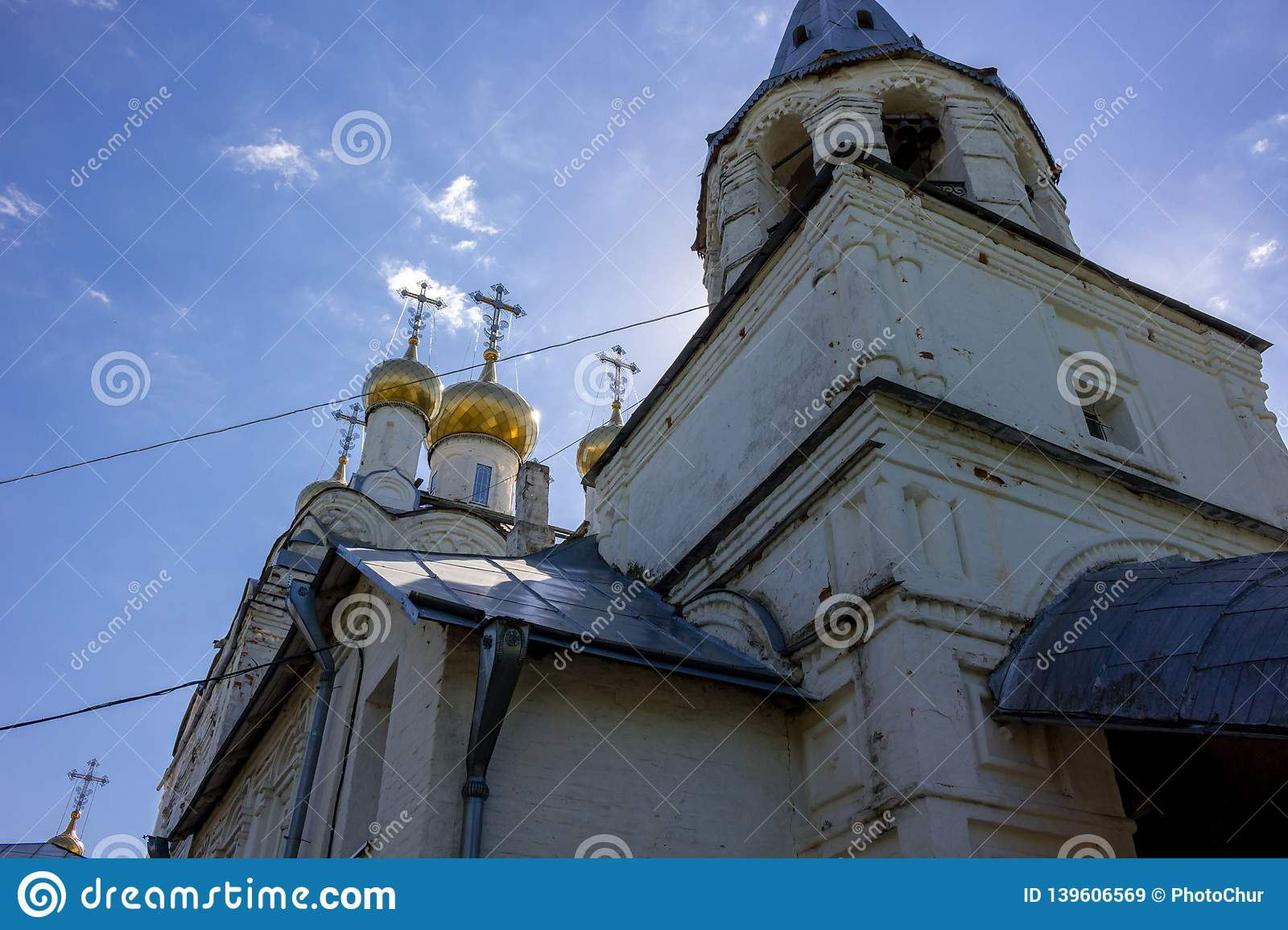 SPAS-ZAGORJE, RUSSIA - MAY 2017: Church of the Transfiguration