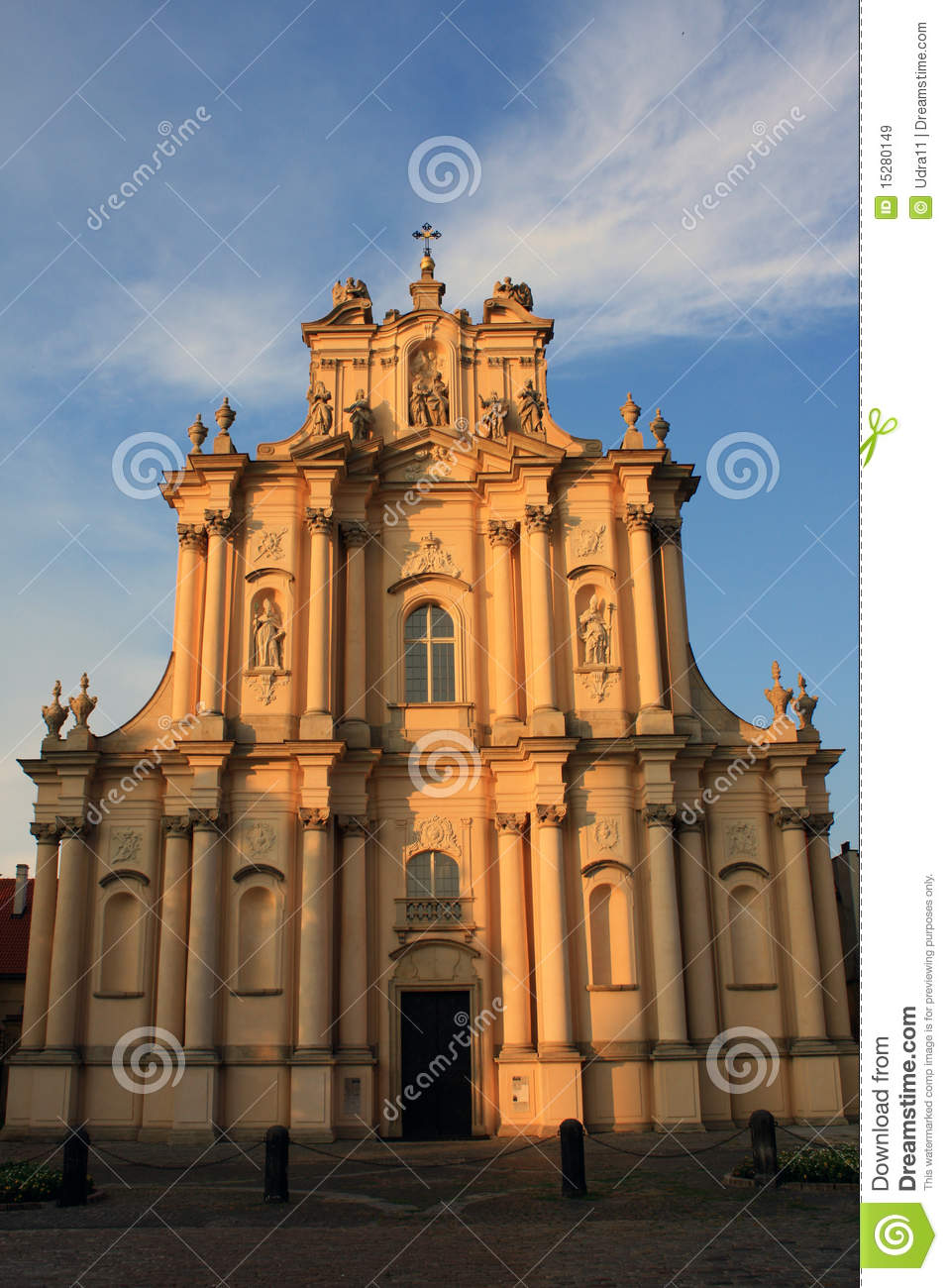 Church Of Visitationists In Warsaw Royalty Free Stock