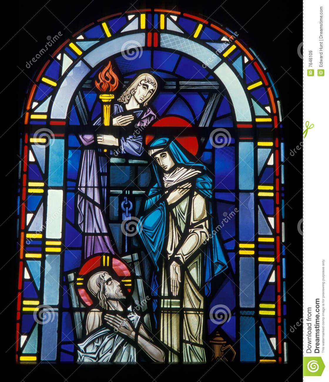 Church window royalty free stock images image 7646109 for Stained glass window church