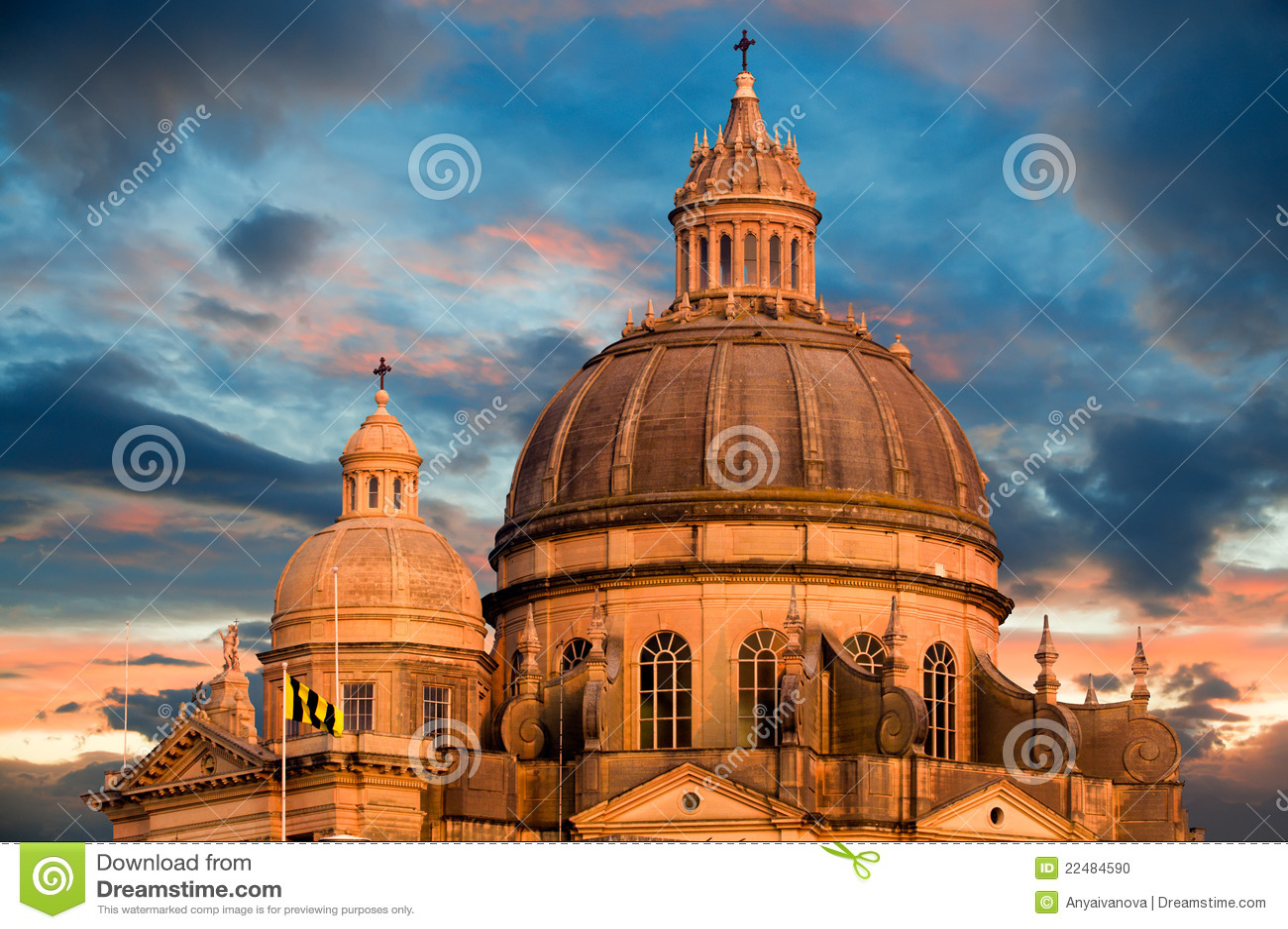 Church In Xewkija Gozo Malta Stock Photo Image 22484590