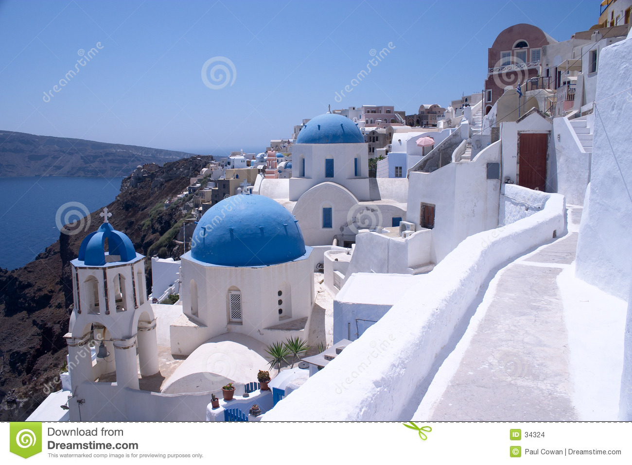 Churches at Oia, Santorini