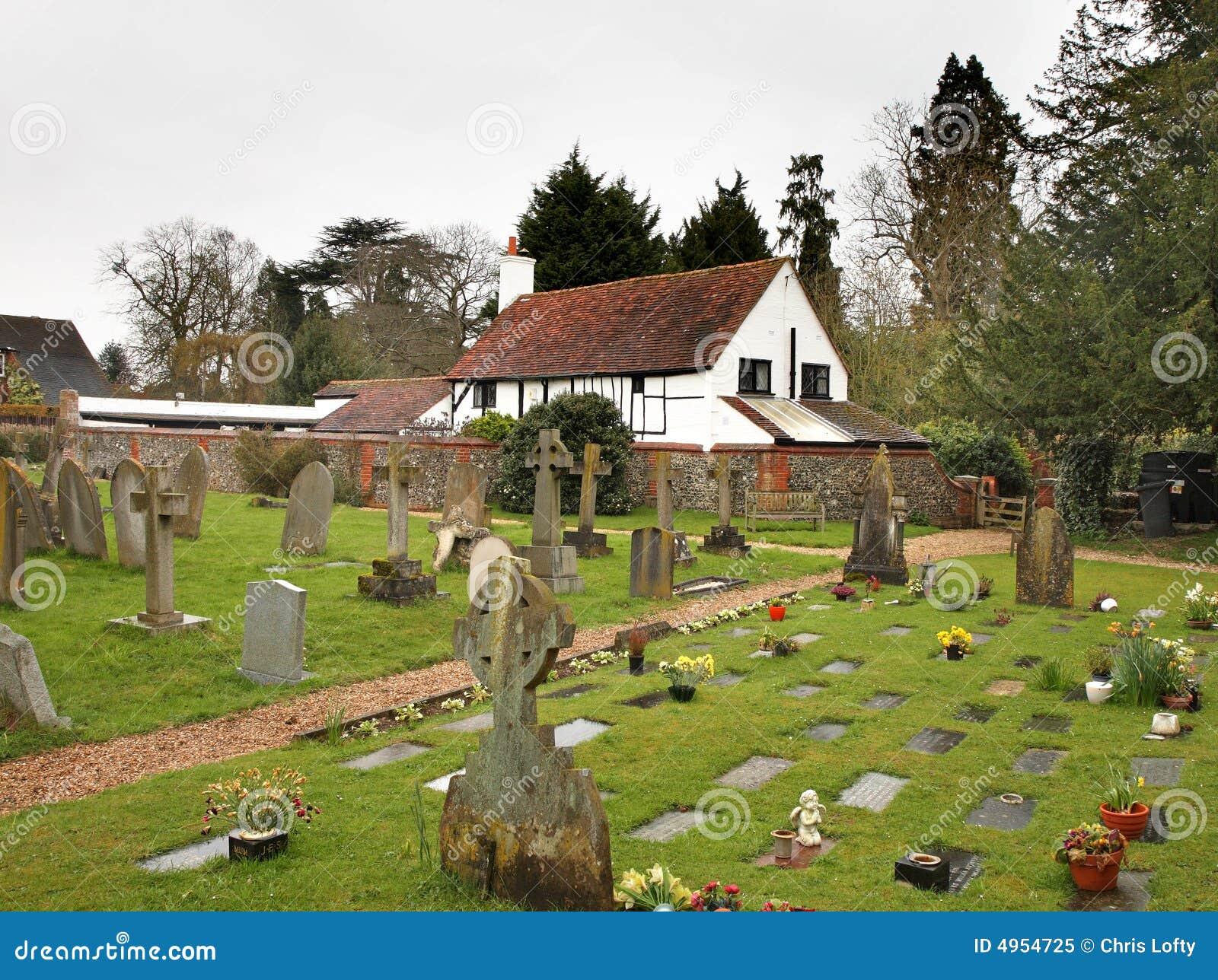 Churchyard e cottage inglesi del villaggio fotografia for Planimetrie inglesi del cottage