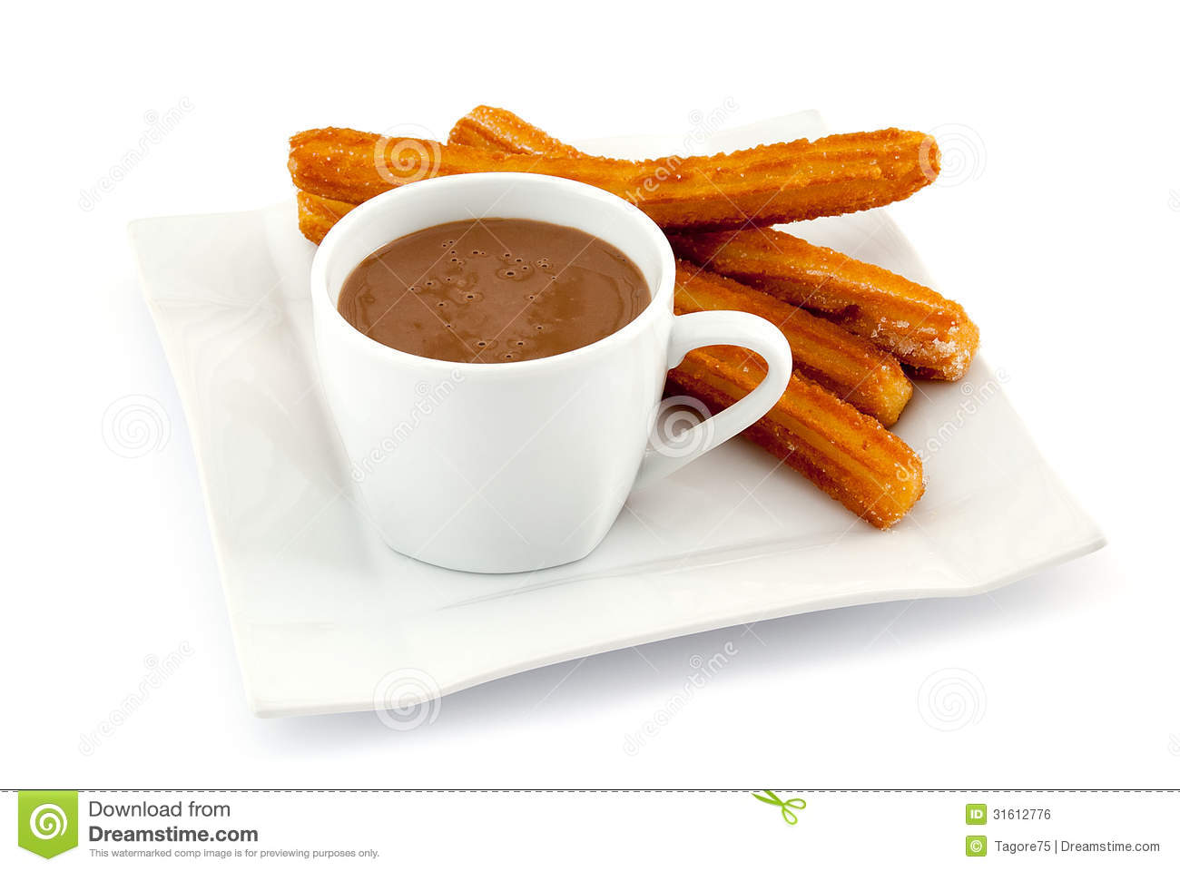 Churros With Hot Chocolate Royalty Free Stock Image - Image: 31612776