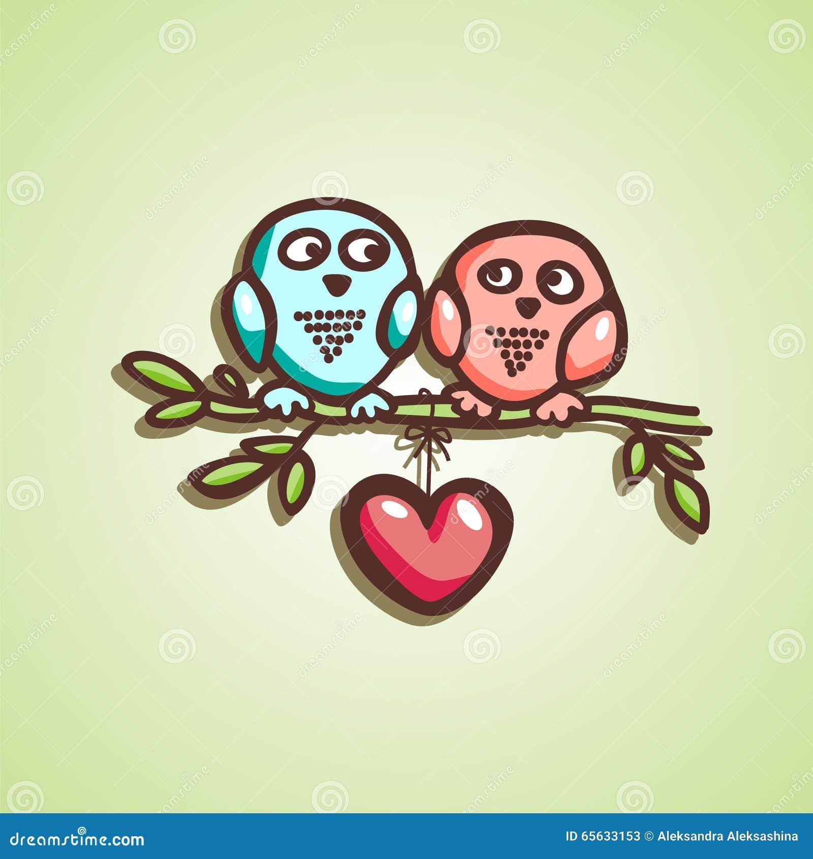 Chute de hiboux dans l amour