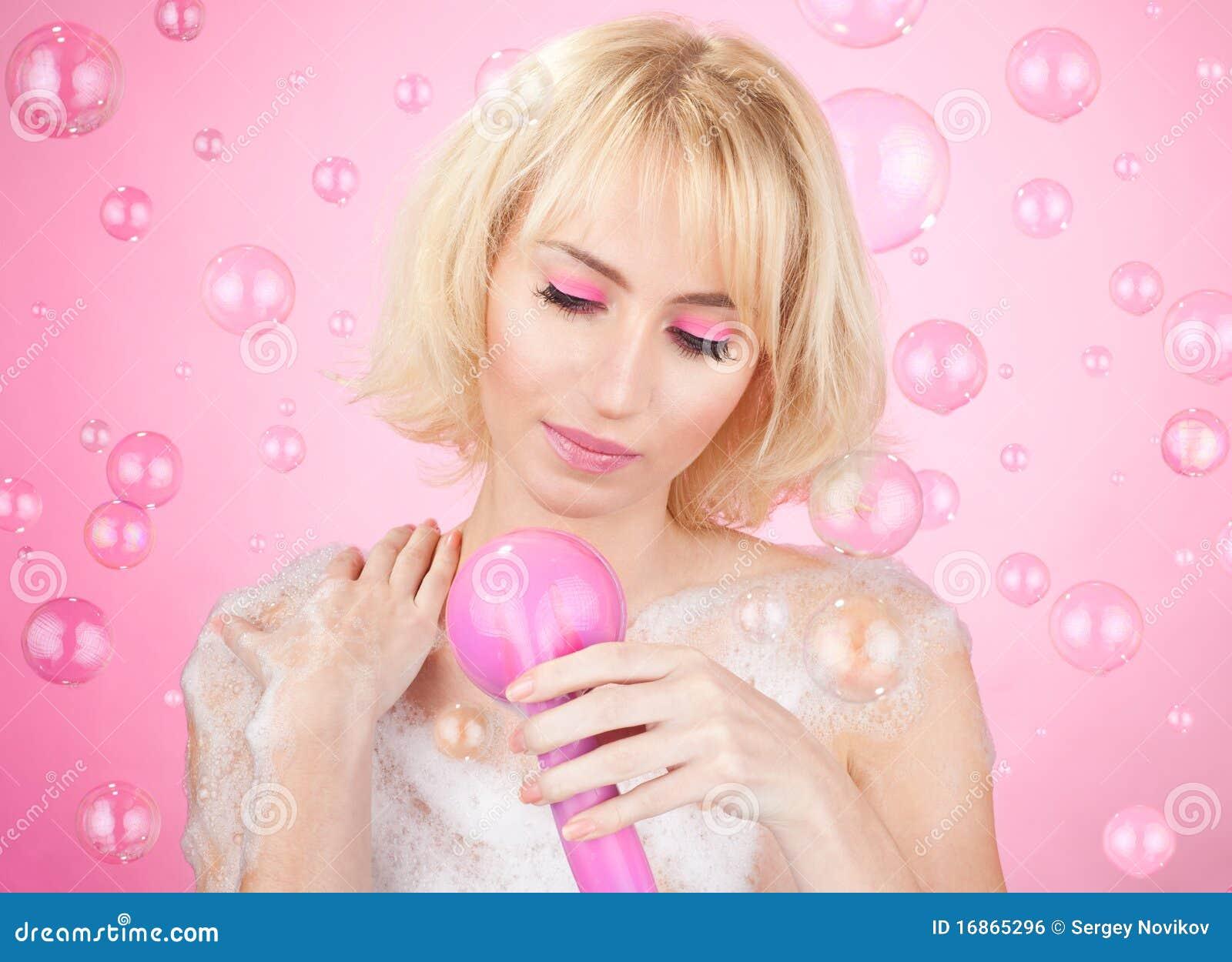 Chuveiro cor-de-rosa