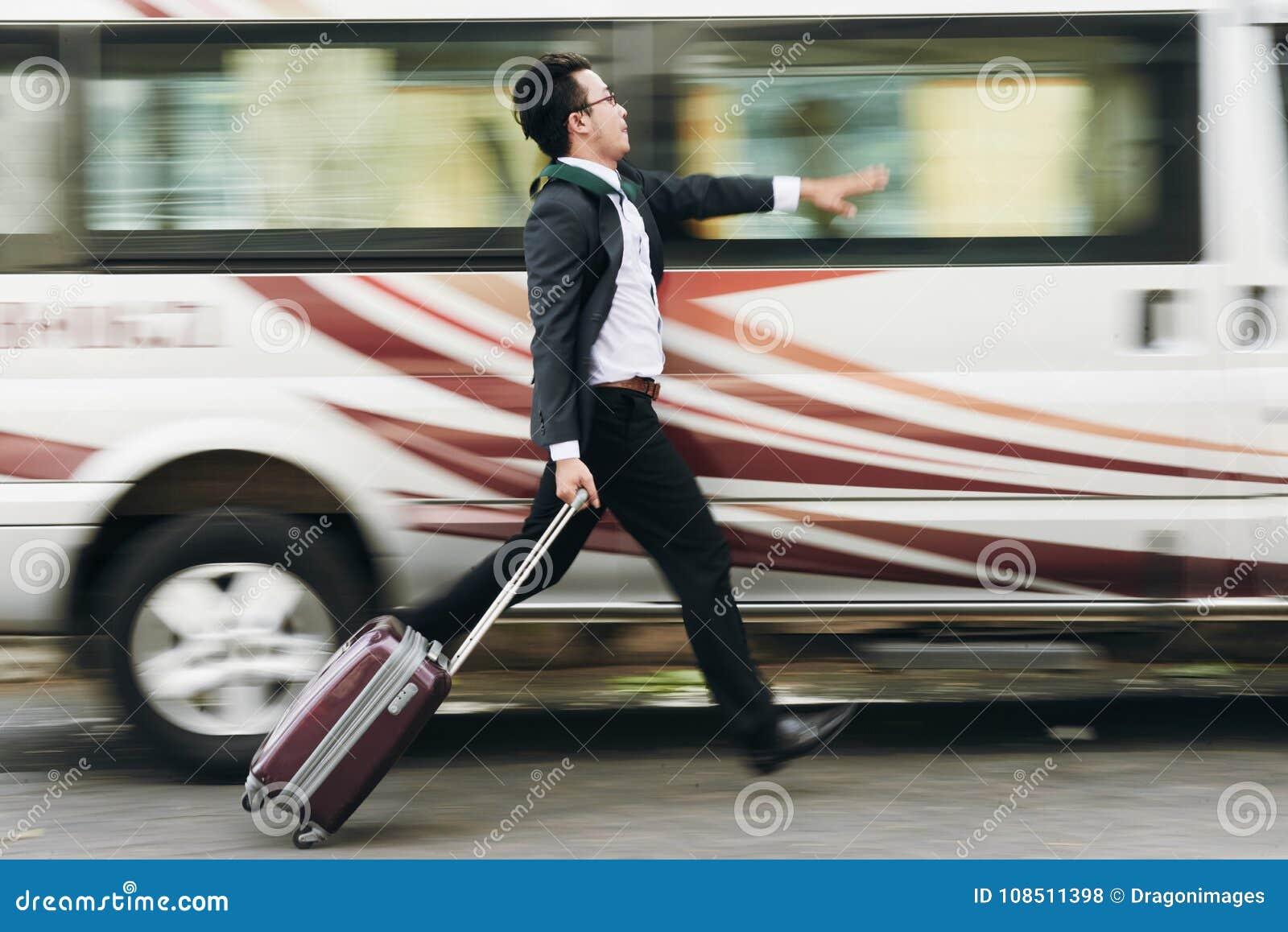 Chwytający autobus
