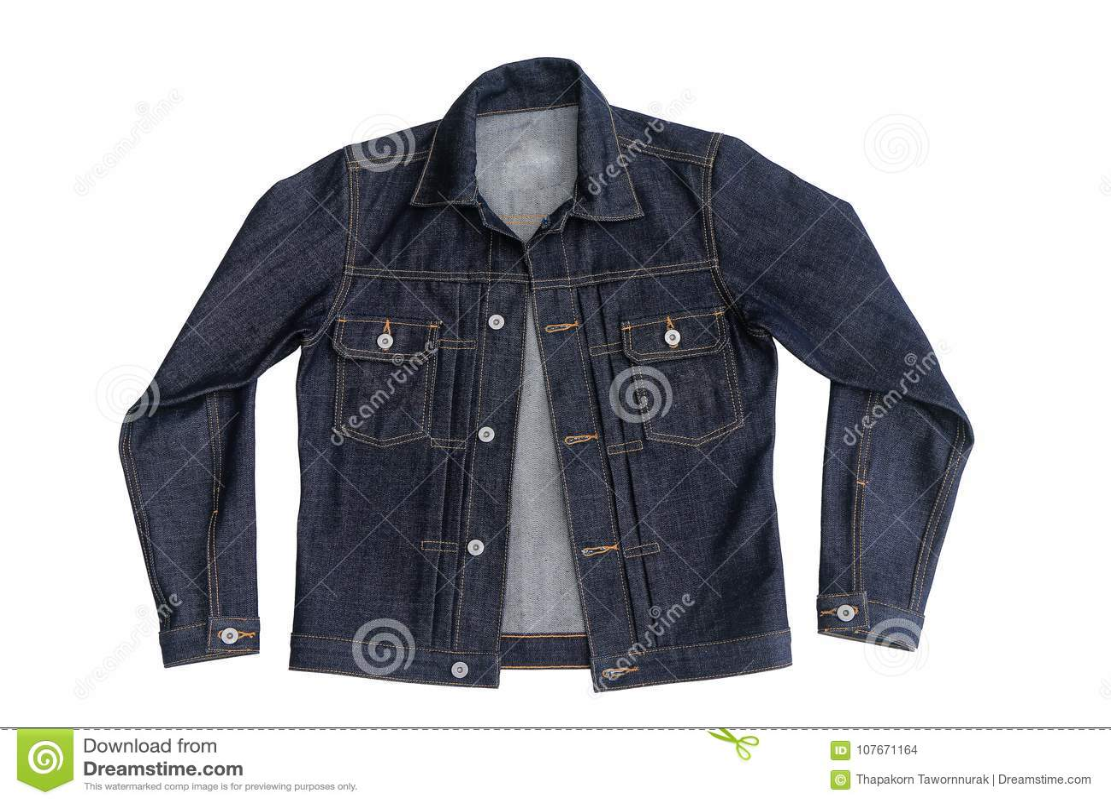 Ciérrese encima de la chaqueta del dril de algodón de los vaqueros
