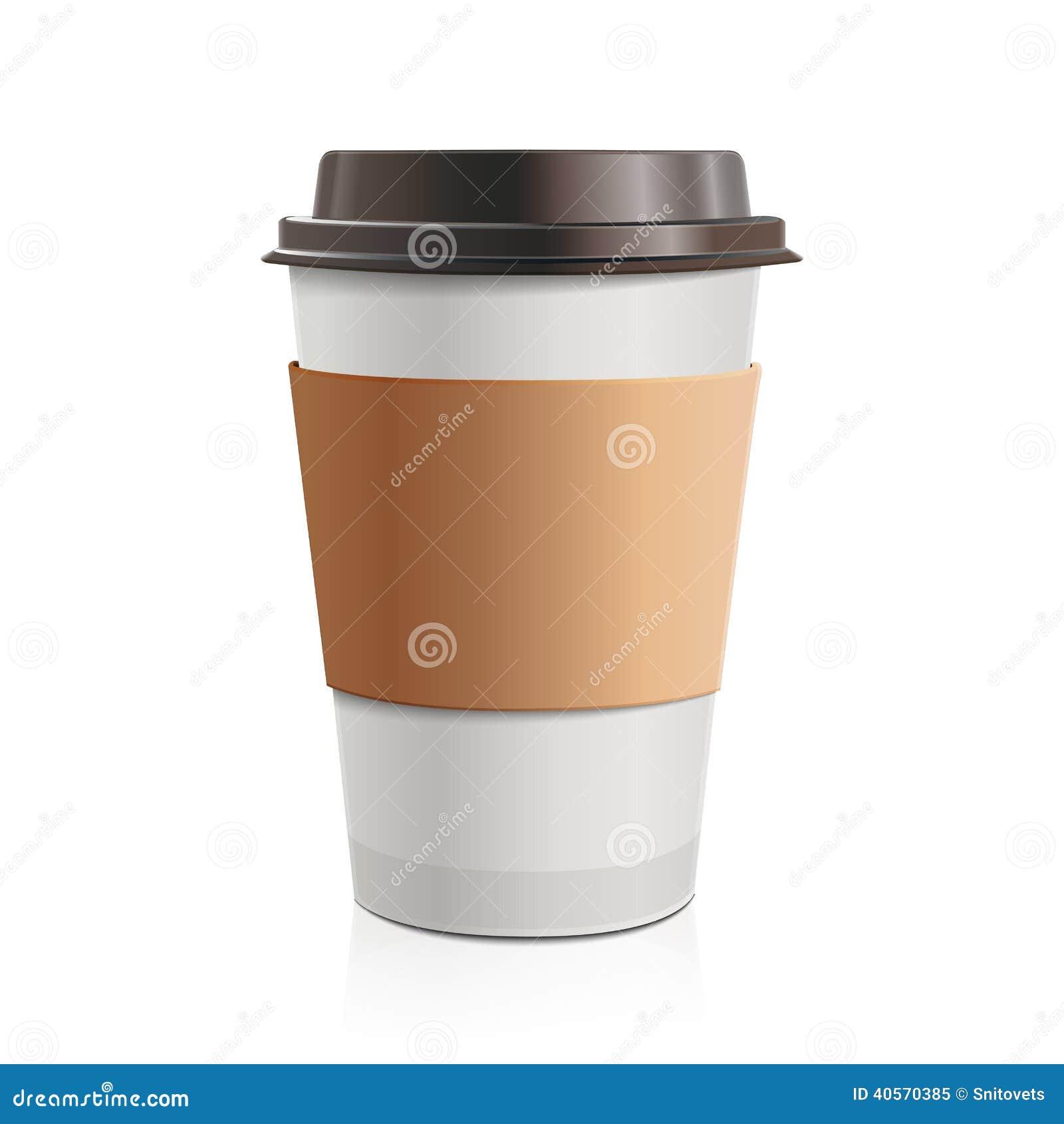 Ci rrese encima del caf para llevar con el casquillo y el for Cafe para llevar