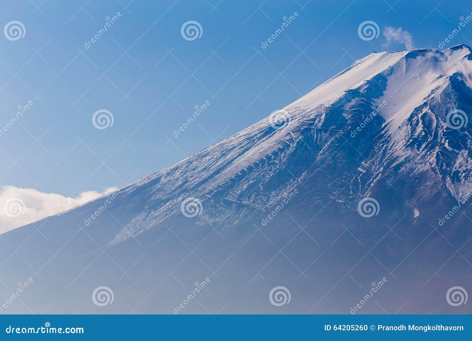 Ciérrese encima del soporte Fuji, Japón