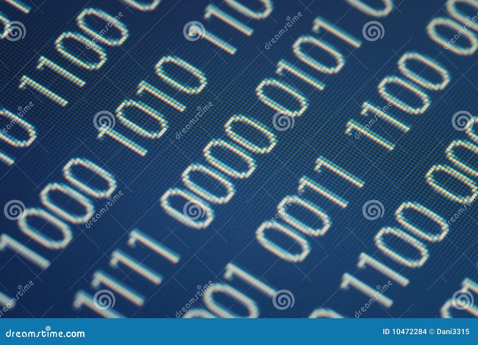 Ciérrese para arriba de código binario