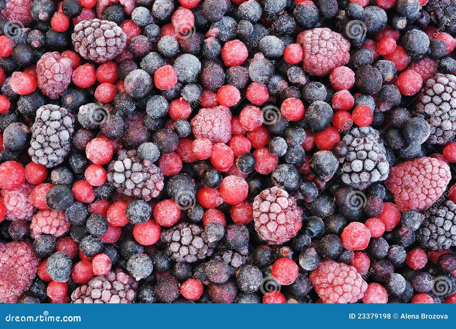 Ciérrese para arriba de la fruta mezclada congelada
