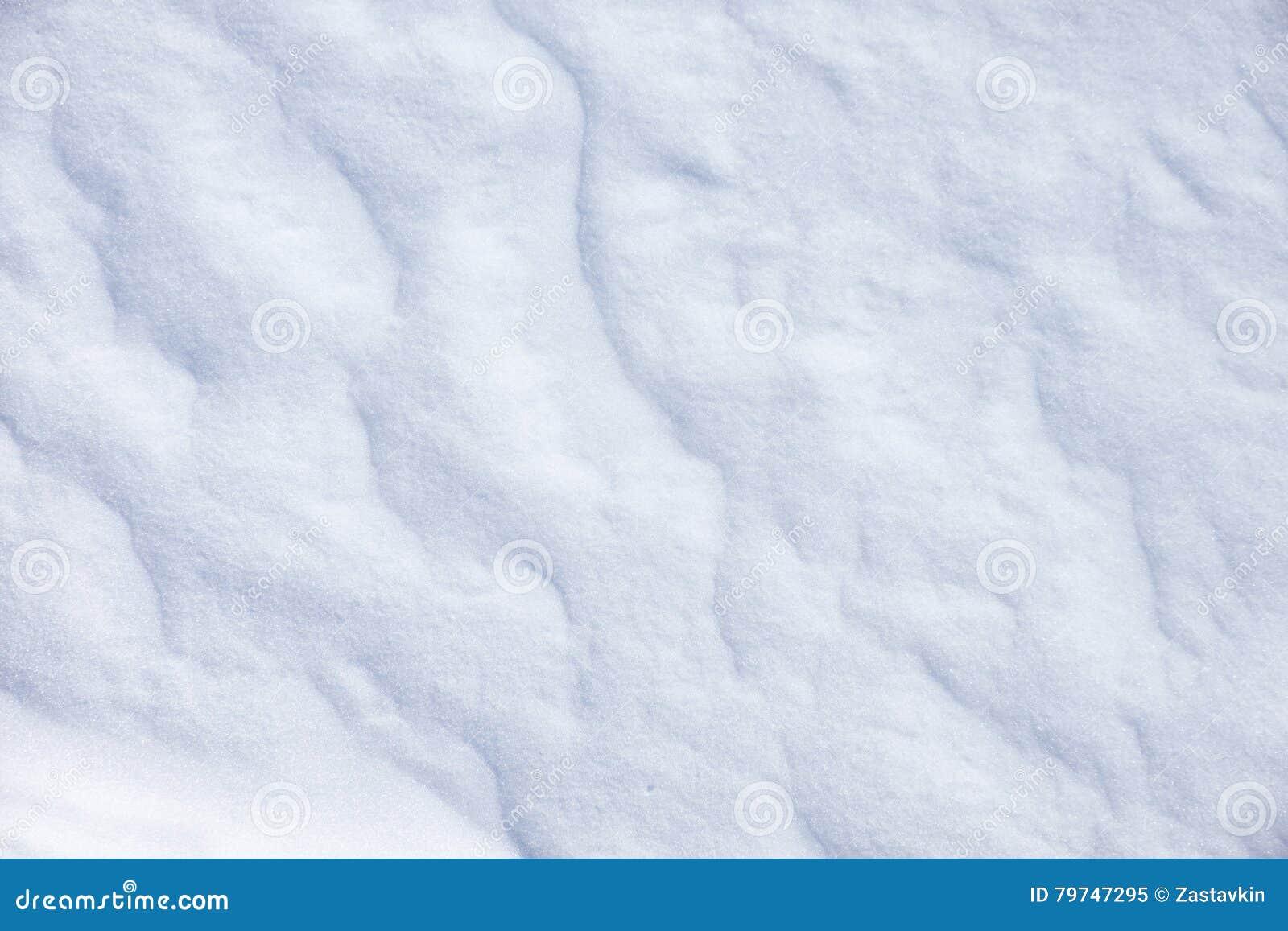 Ciérrese para arriba de la nieve blanca