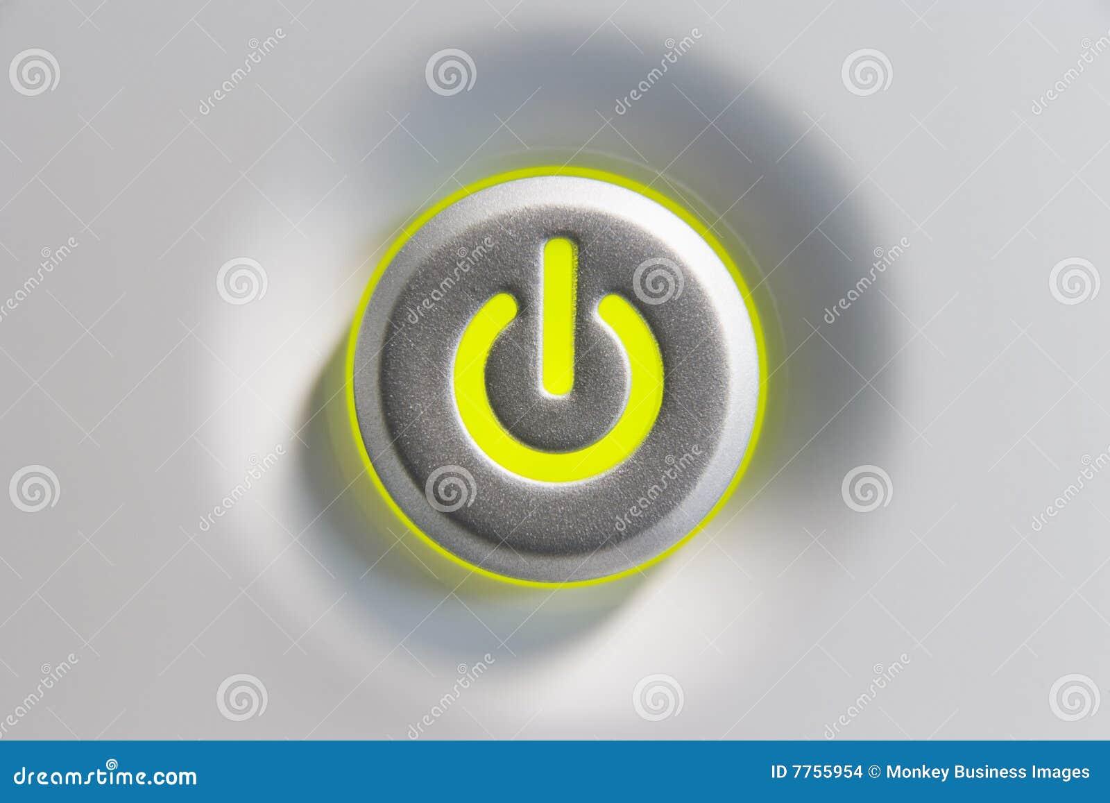 Ciérrese para arriba del botón de la potencia