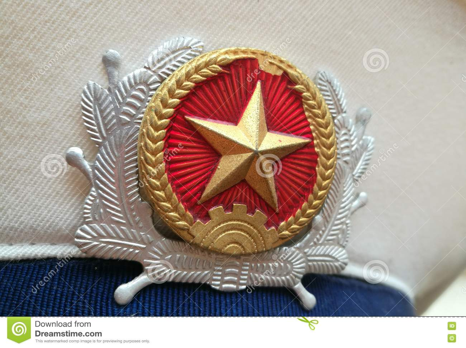 Ciérrese para arriba del sombrero de la marina de guerra de Vietnam