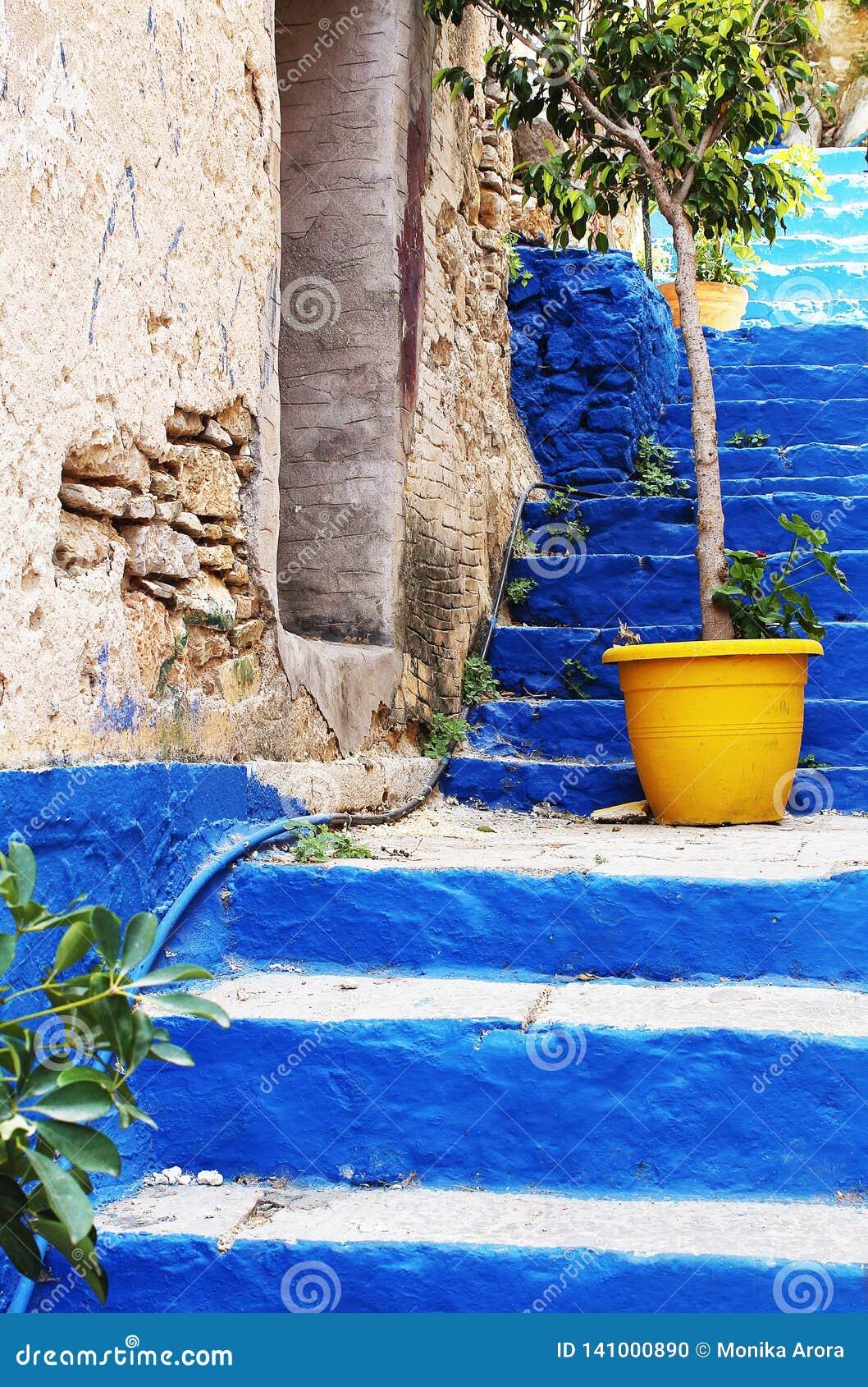 Ciérrese para arriba en la escalera de Kali Strata;