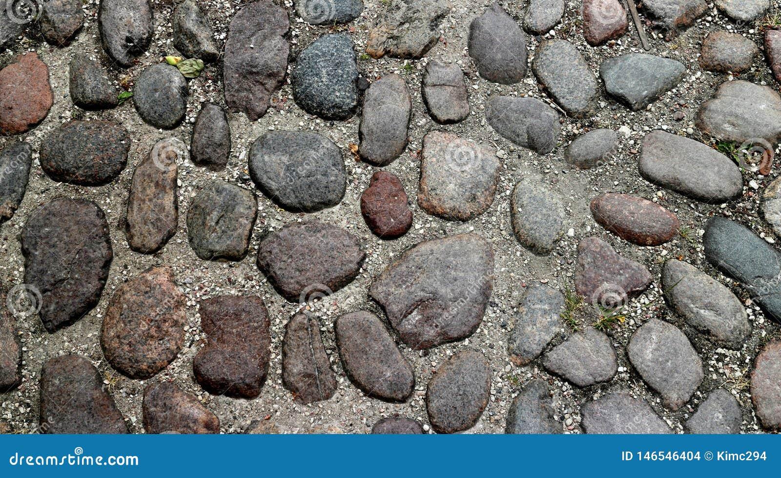 Ciérrese para arriba en una calle cobblestoned