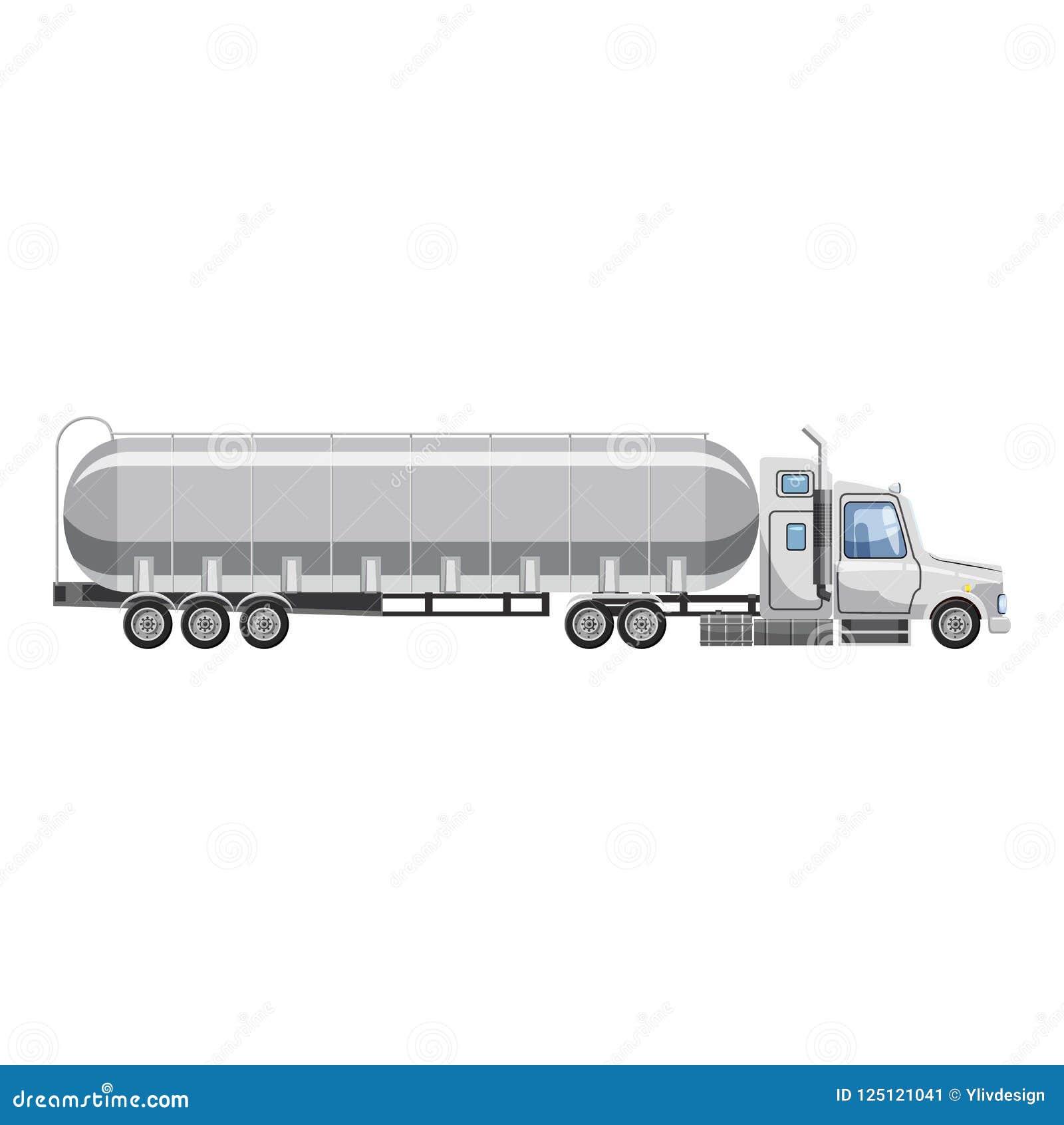 Ciężarówka niesie benzyny ikonę, kreskówka styl