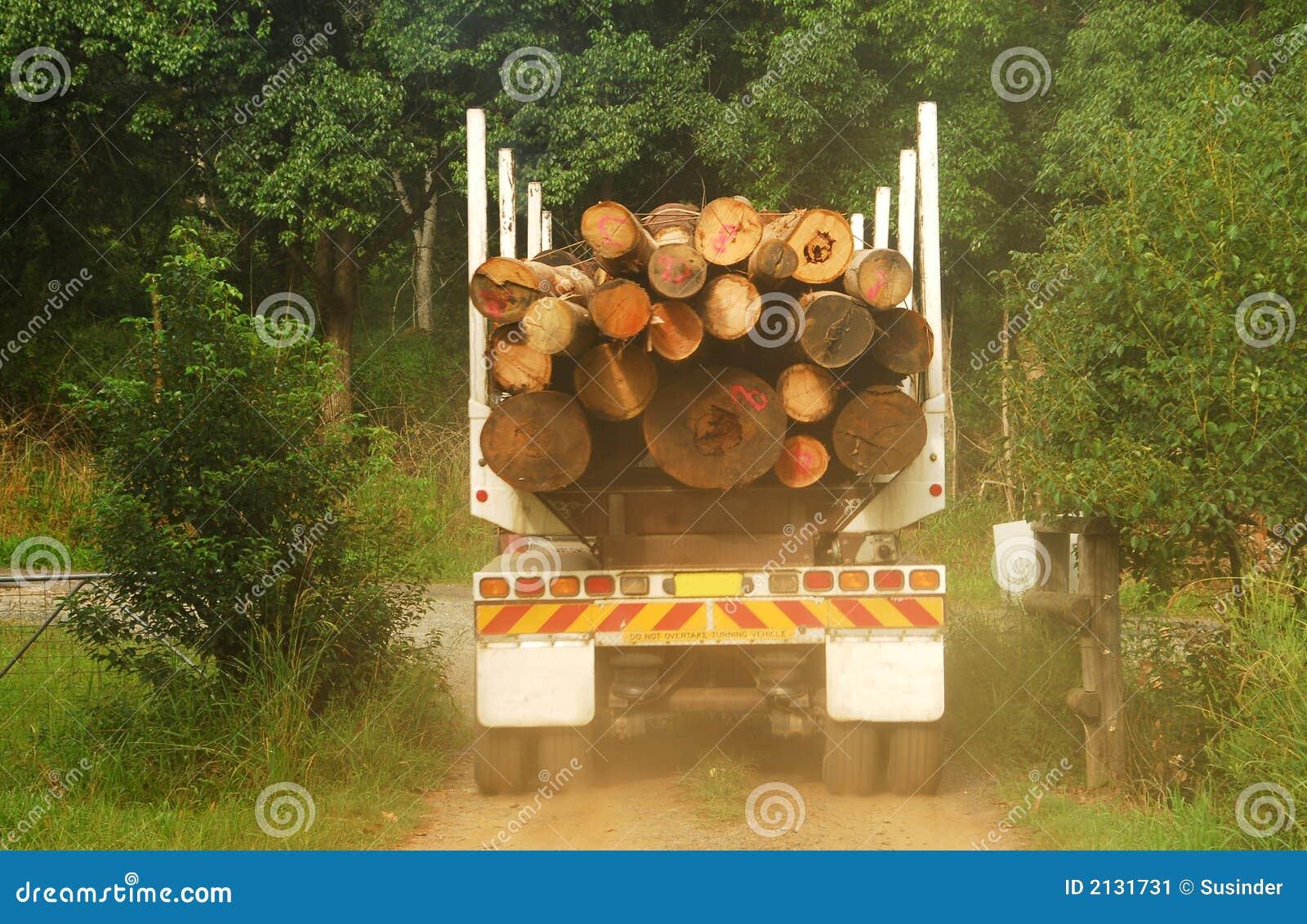 Ciężarówka pełna wyrąb drewna