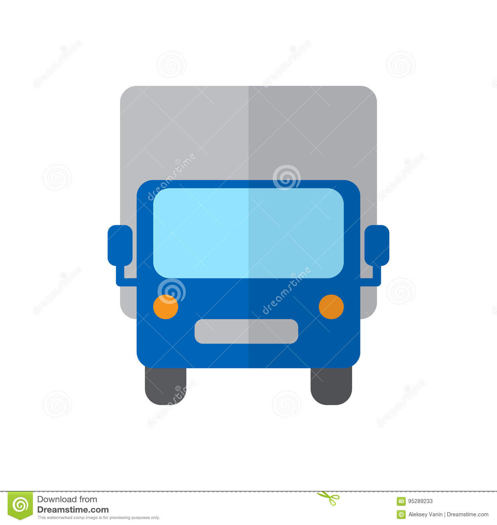 Ciężarówka, Wysyła ciężarową płaską ikonę, wypełniający wektoru znak, kolorowy piktogram odizolowywający na bielu