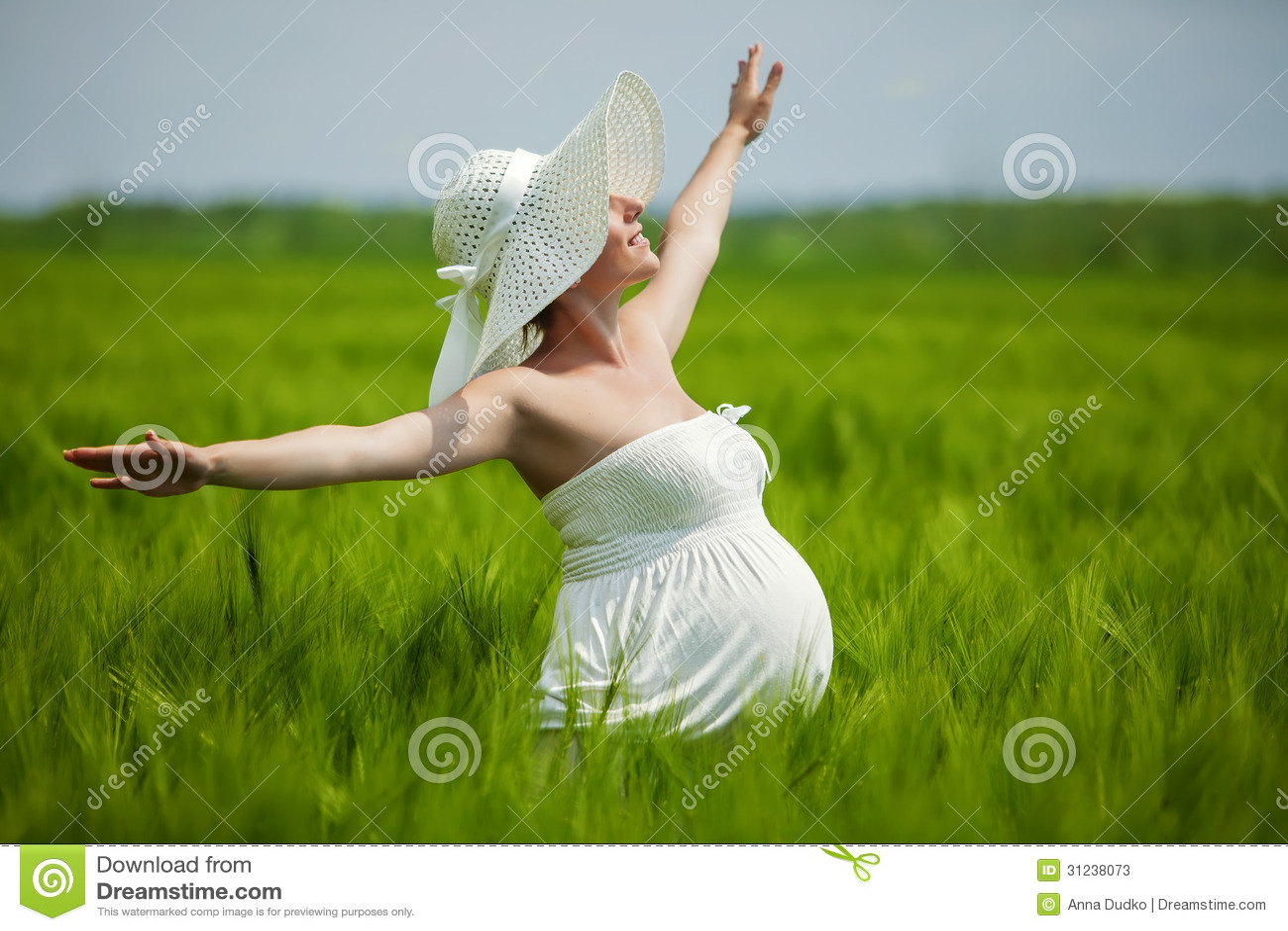 Ciężarna caucasian kobieta
