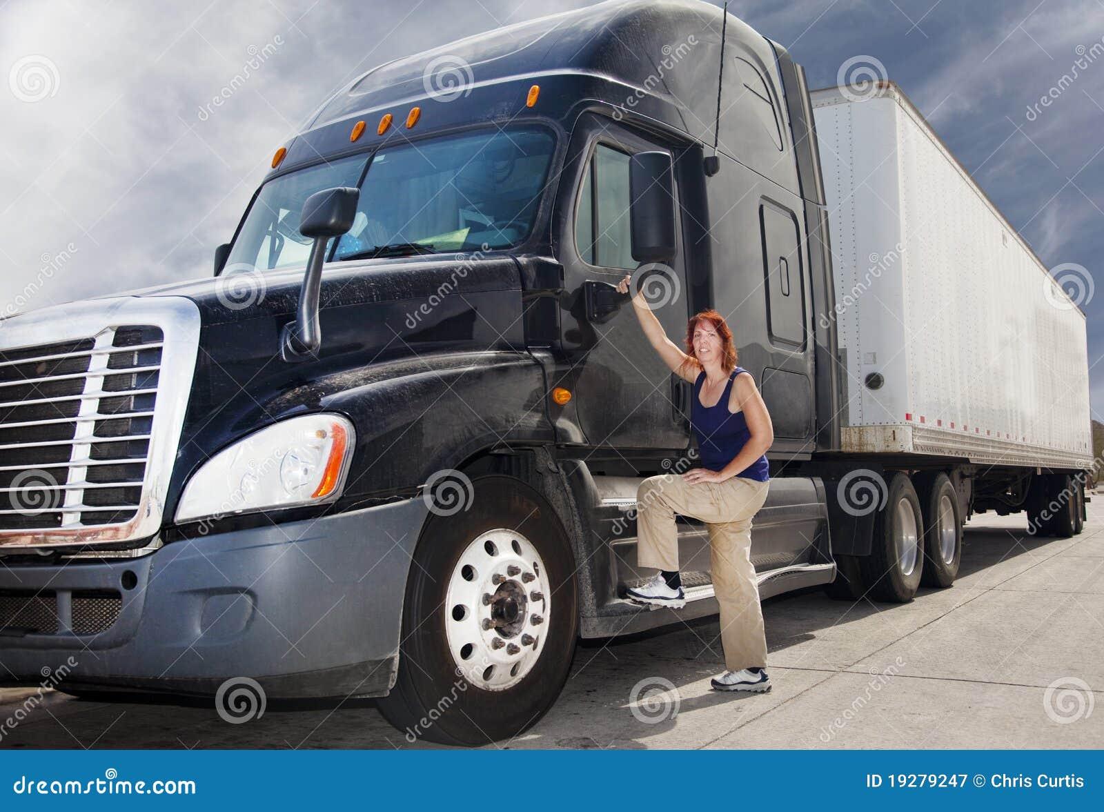 Ciężarowa kierowca kobieta