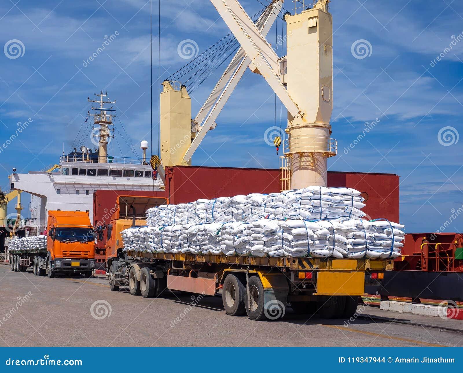 Ciężarowy doręczeniowy ładunek dla ładować na pokładzie