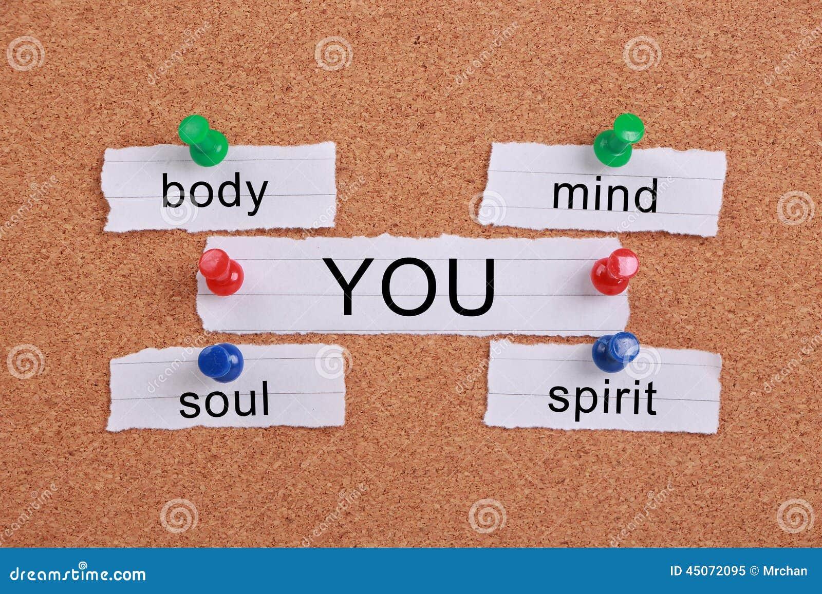Ciała Umysłu Duszy Duch Ty Obraz Stock Obraz Złożonej Z Personal