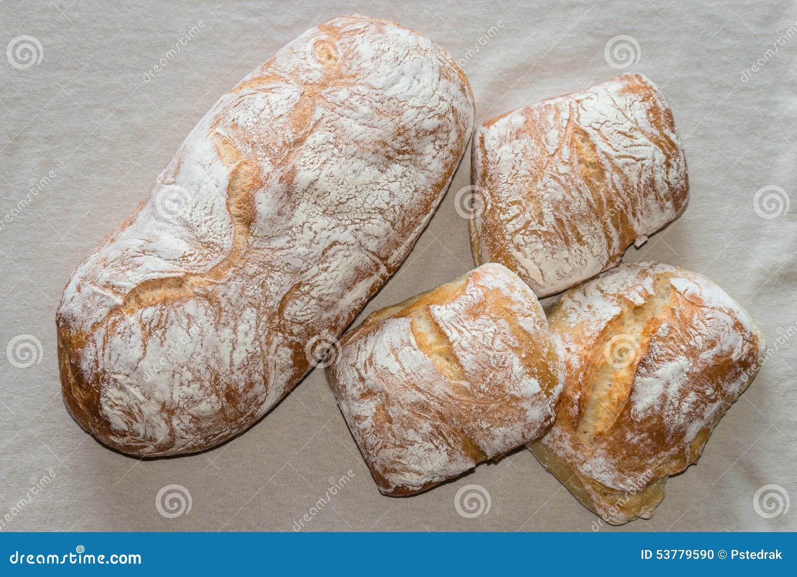 Ciabatta babeczki i chleb