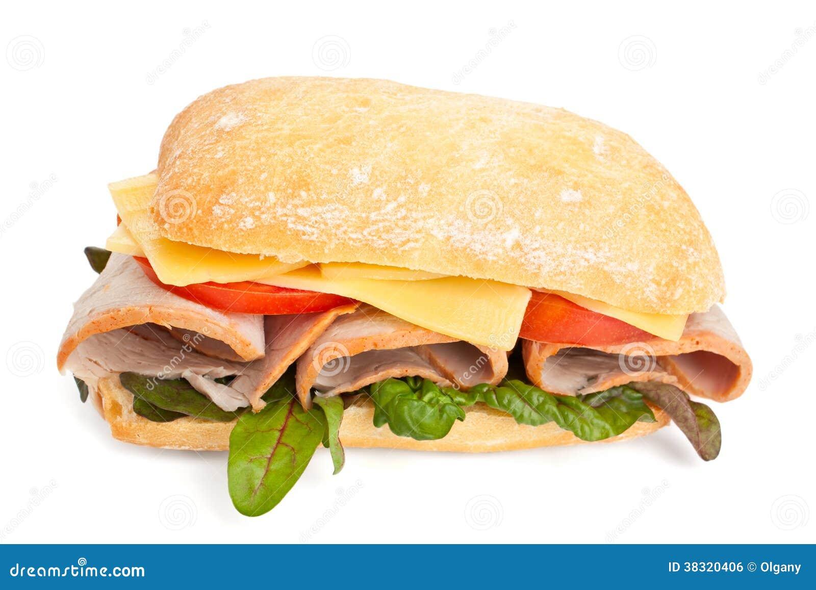 ciabatta brot sandwich mit schinken und k se lizenzfreies stockbild bild 38320406. Black Bedroom Furniture Sets. Home Design Ideas