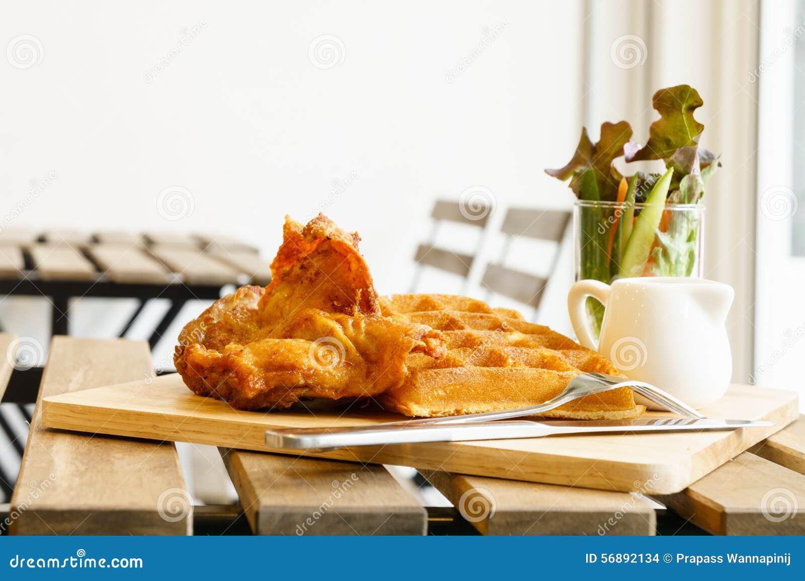 Cialda e pollo fritto