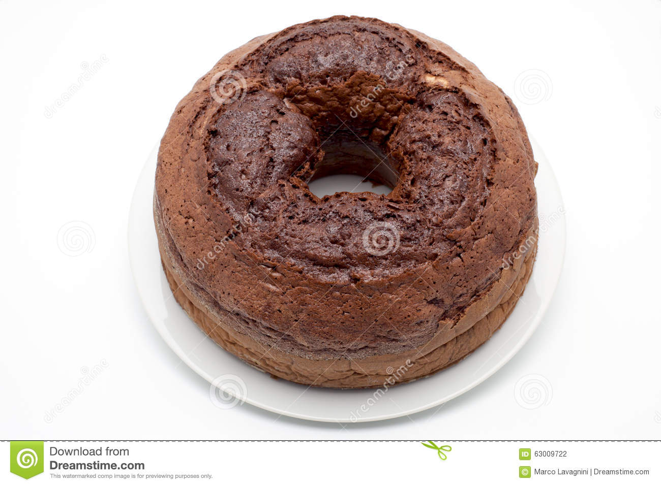 Pure Chocolate Cake Images : Ciambellone (pure Chocolate) Stock Photo - Image: 63009722