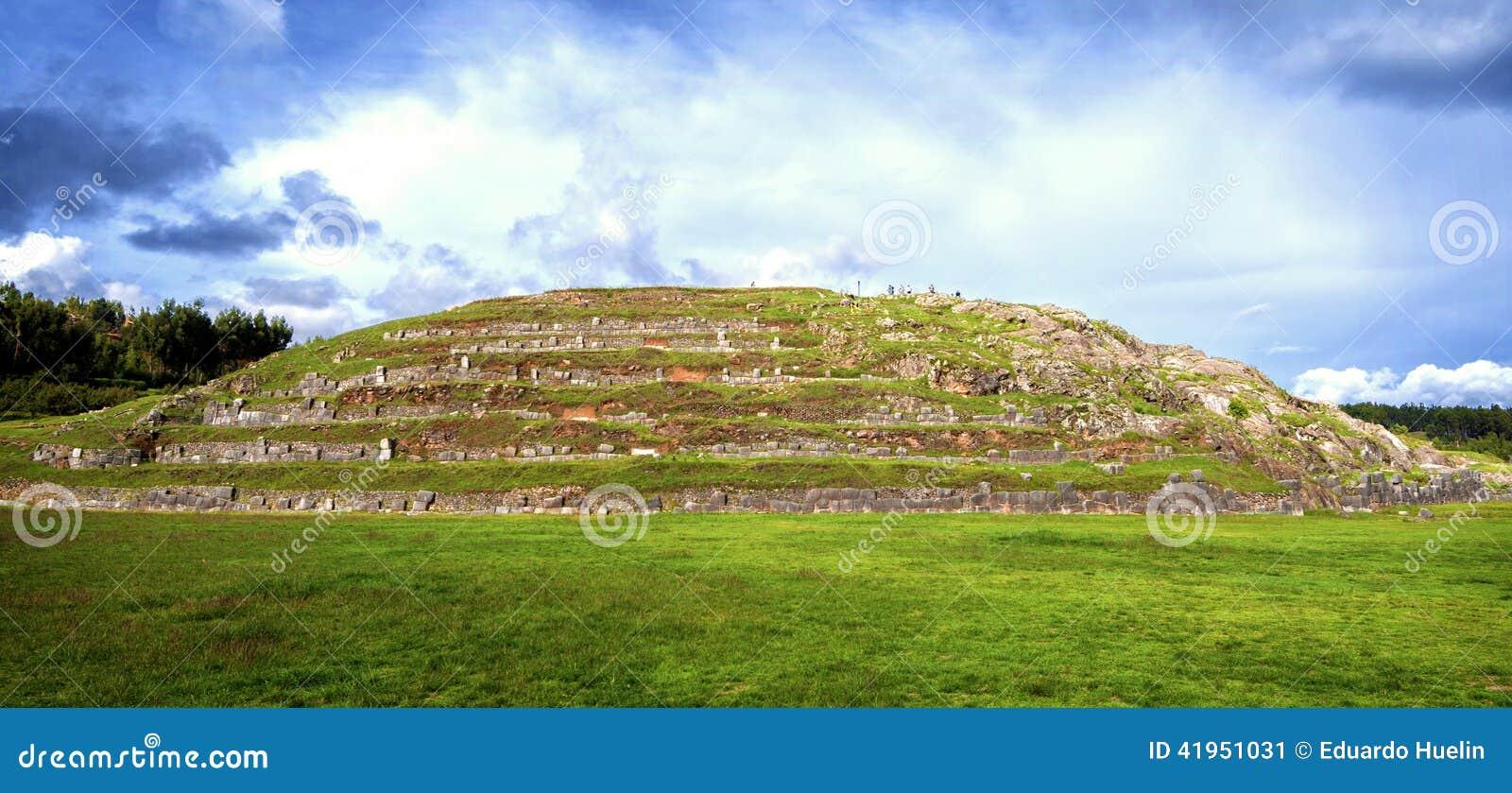 Ściany Sacsayhuaman forteca w Cusco, Peru