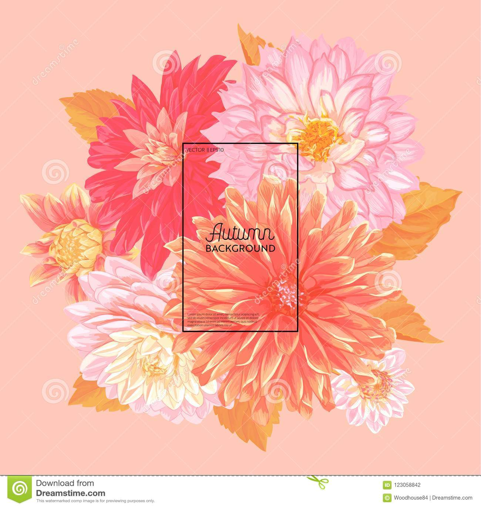 Ciao Autumn Watercolor Floral Design con la foglia di acero Insegna stagionale di caduta, manifesto, stampa, vendita, modello di