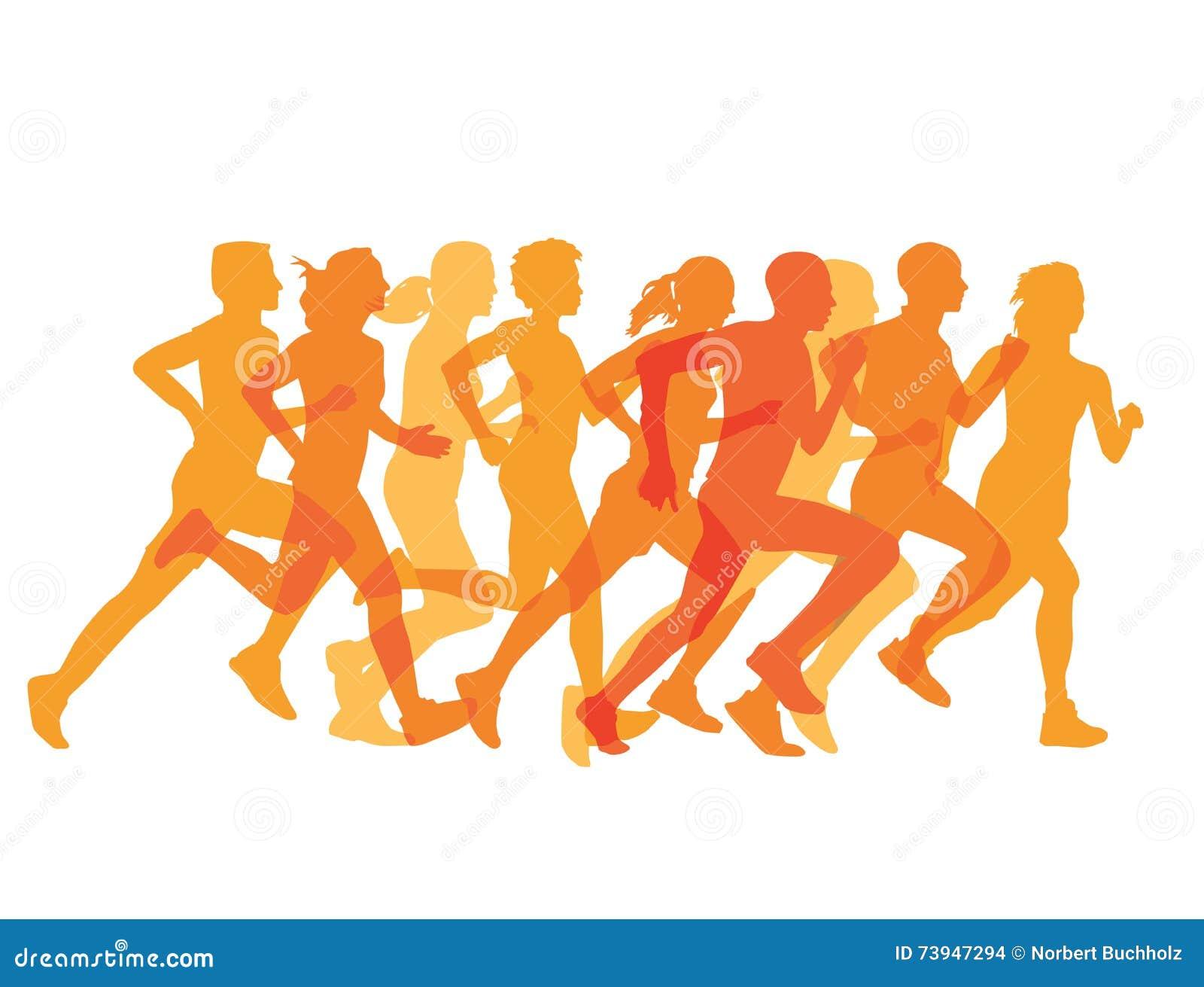 Ciasna grupa biegacze w rasie