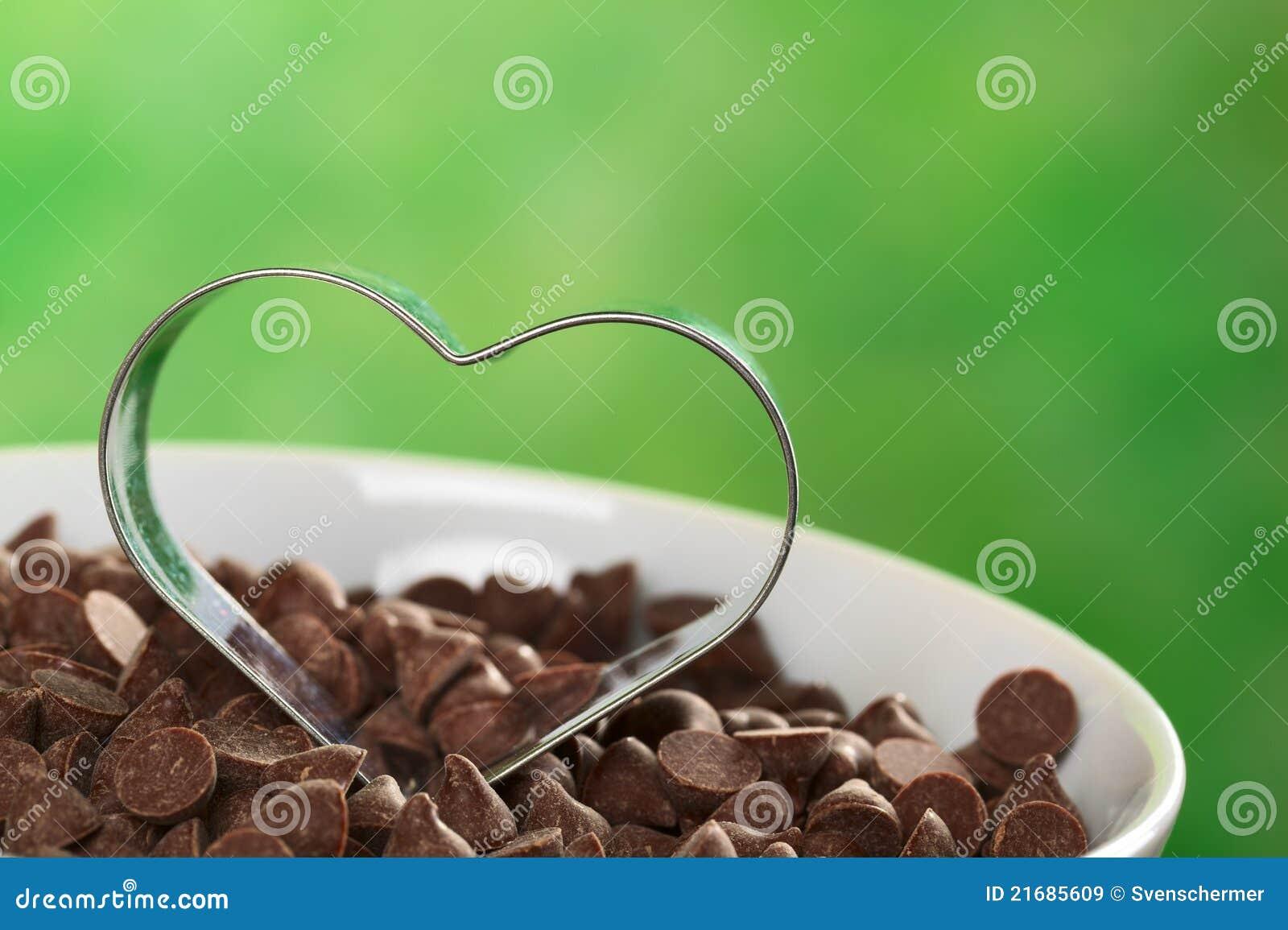 Ciastka krajacza serce kształtujący