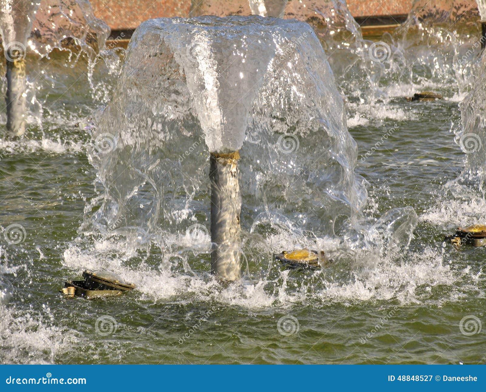 Tryskająca woda